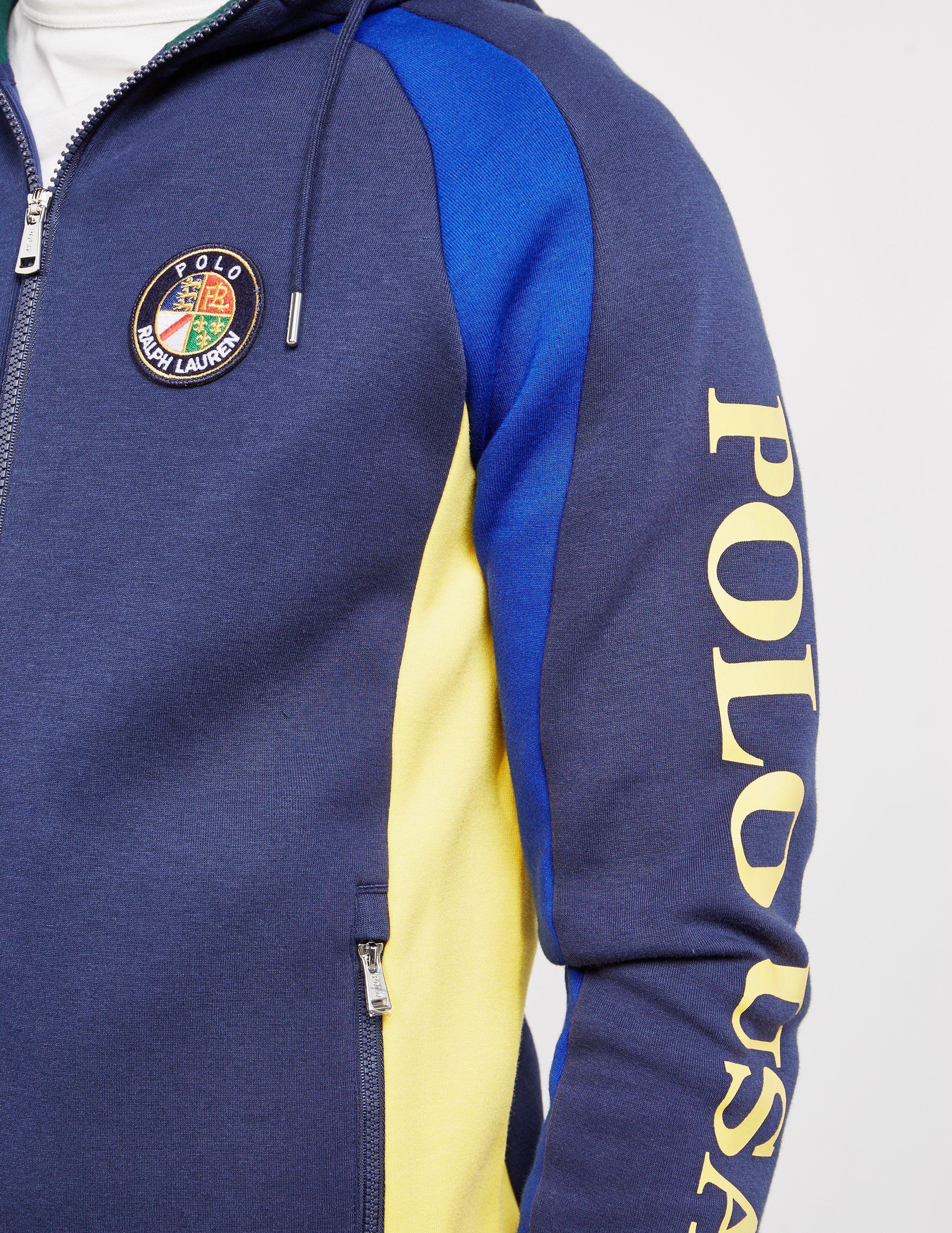 Polo Ralph Lauren Colour Block Zip USA Hoodie - Online Exclusive