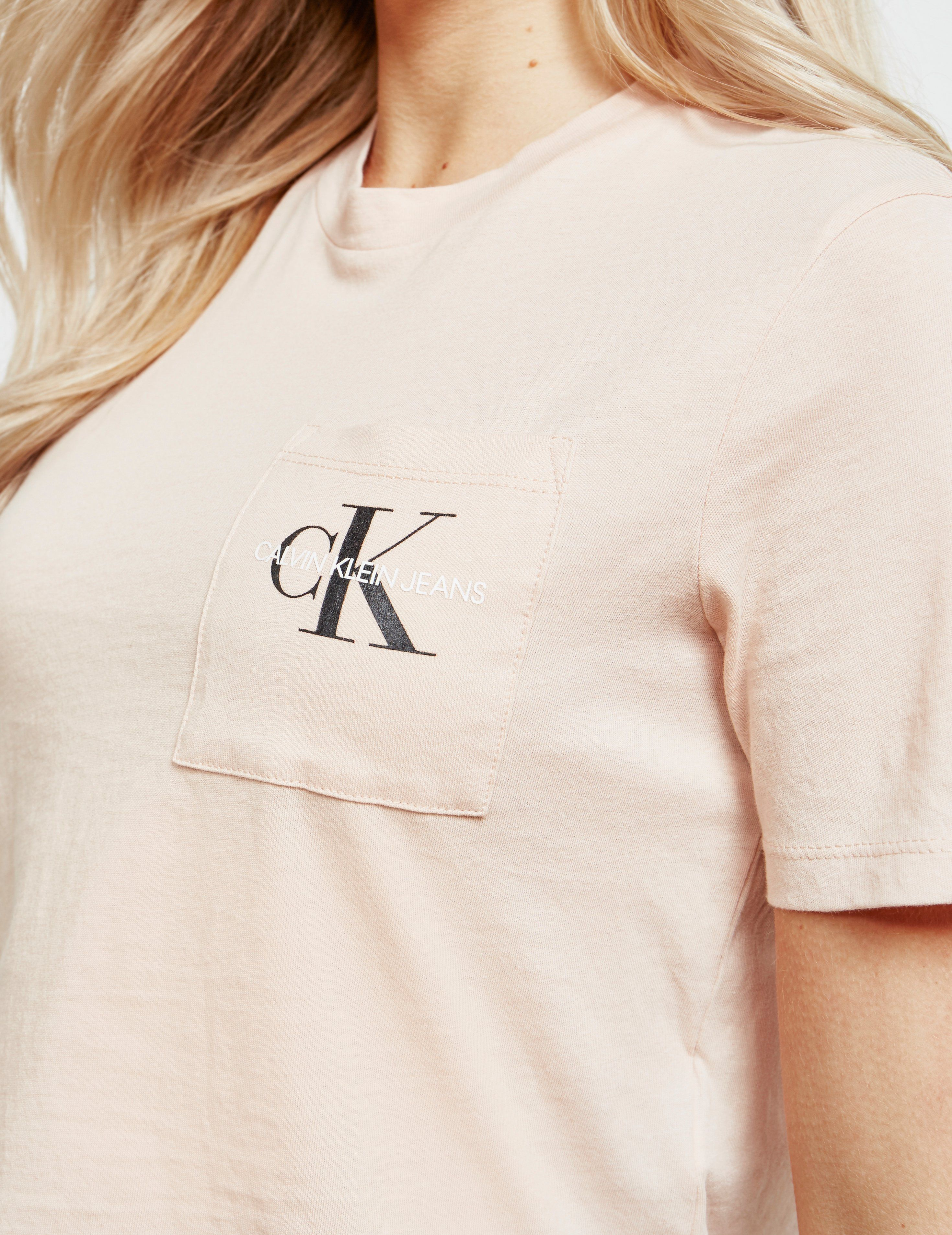 Calvin Klein Jeans Monogram Cropped Short Sleeve T-Shirt