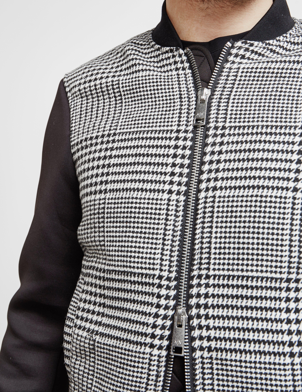 Armani Exchange Houndstooth Bomber Jacket
