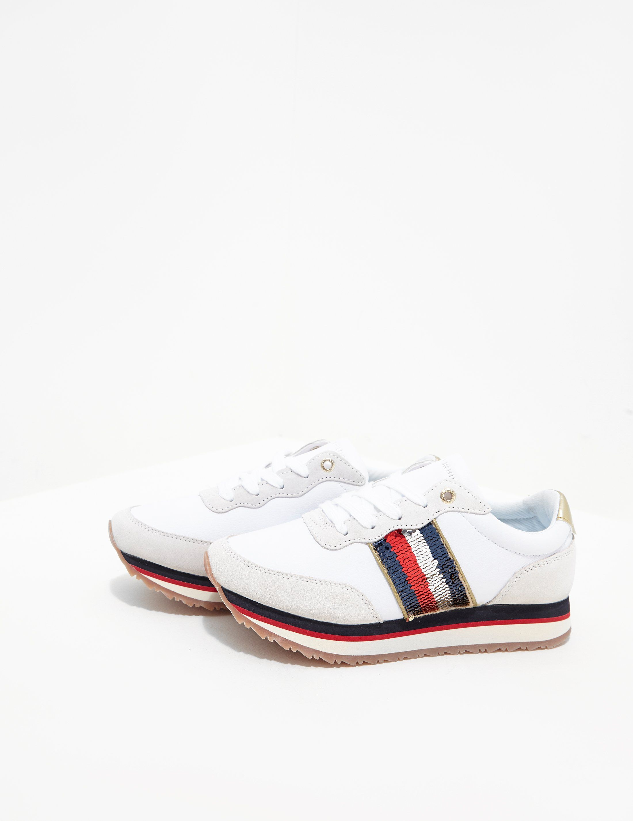 Tommy Hilfiger Sequin Retro Trainers