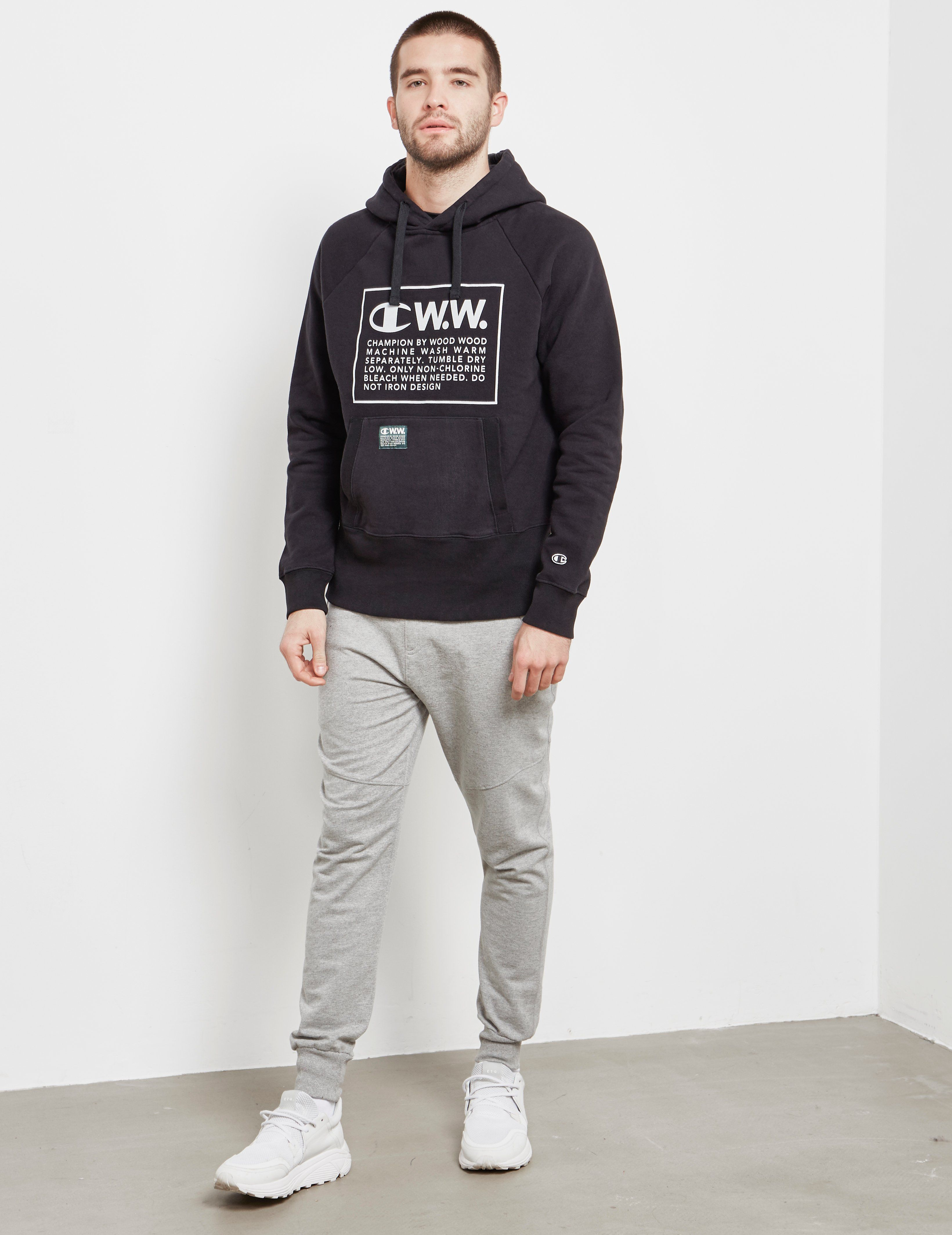 Champion x Wood Wood Box Logo Hoodie