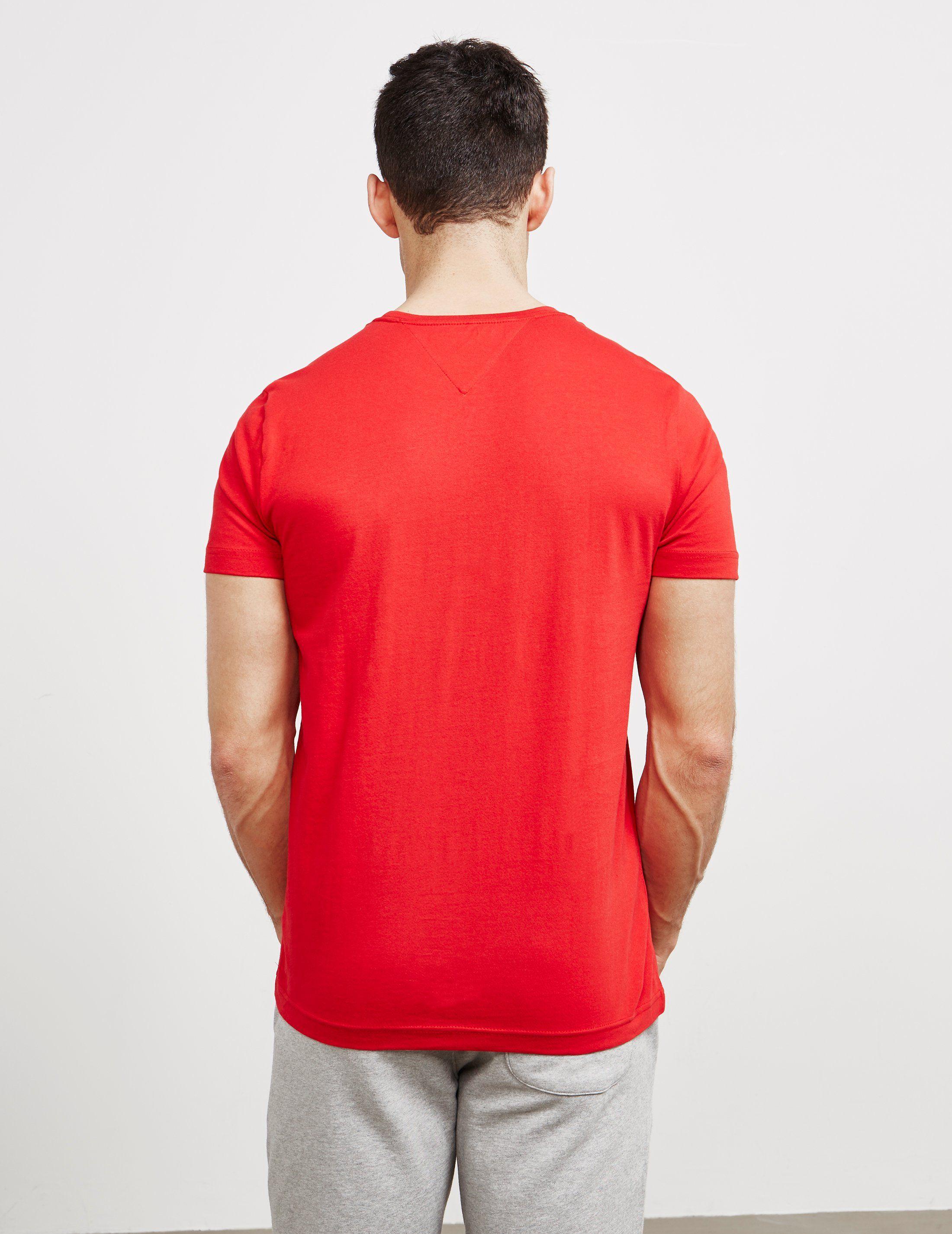 Tommy Hilfiger Flag Logo Short Sleeve T-Shirt