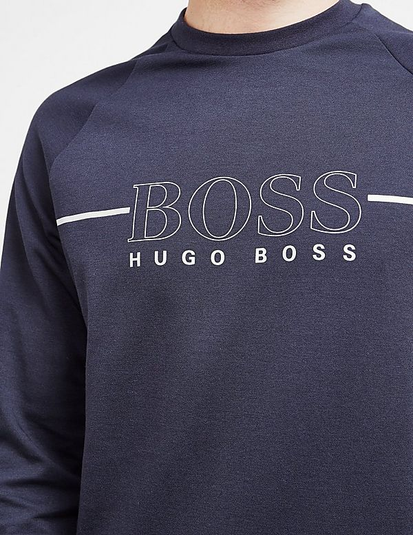 1e3cb3381b853f BOSS Foil Fleece Crew Sweatshirt