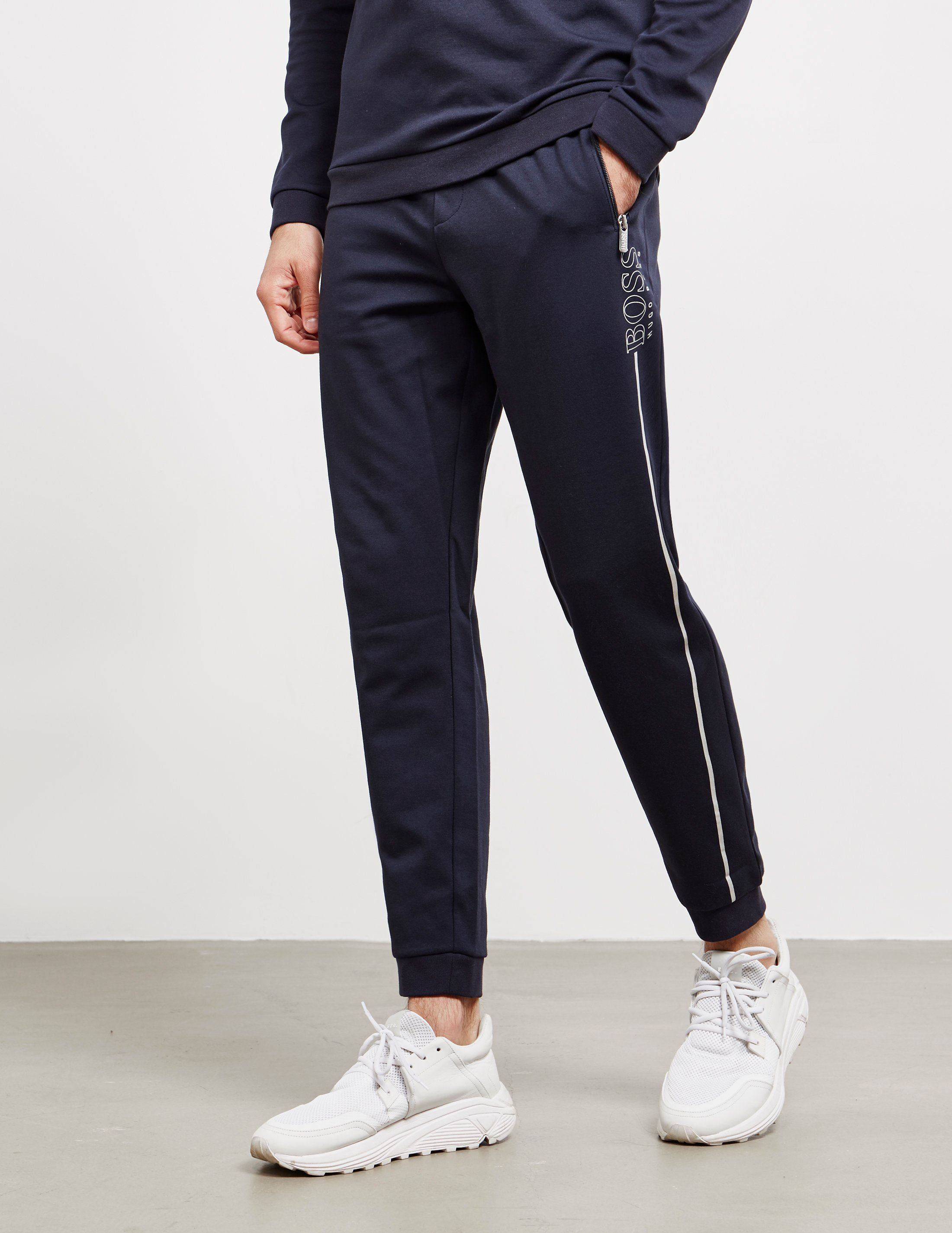 BOSS Foil Logo Cuffed Fleece Track Pants