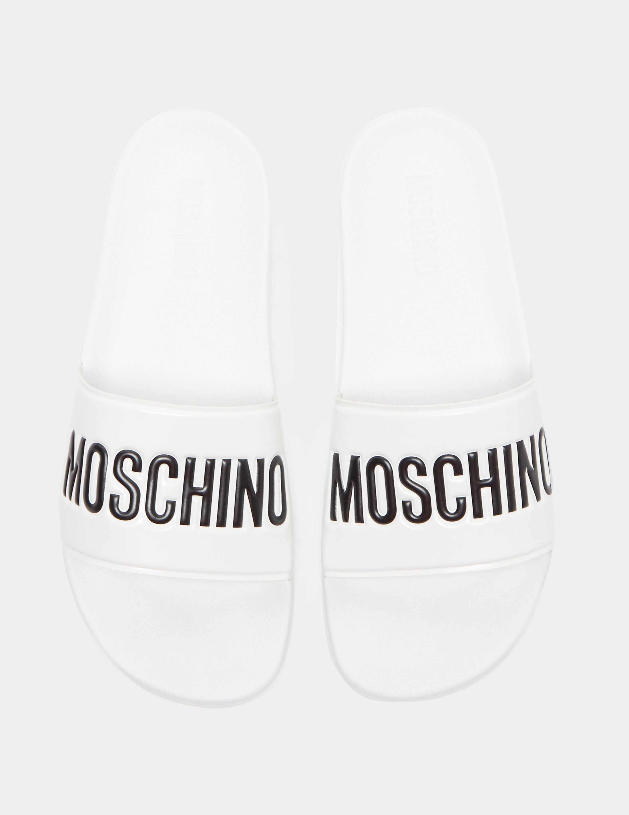 Love Moschino Logo Strap Slides