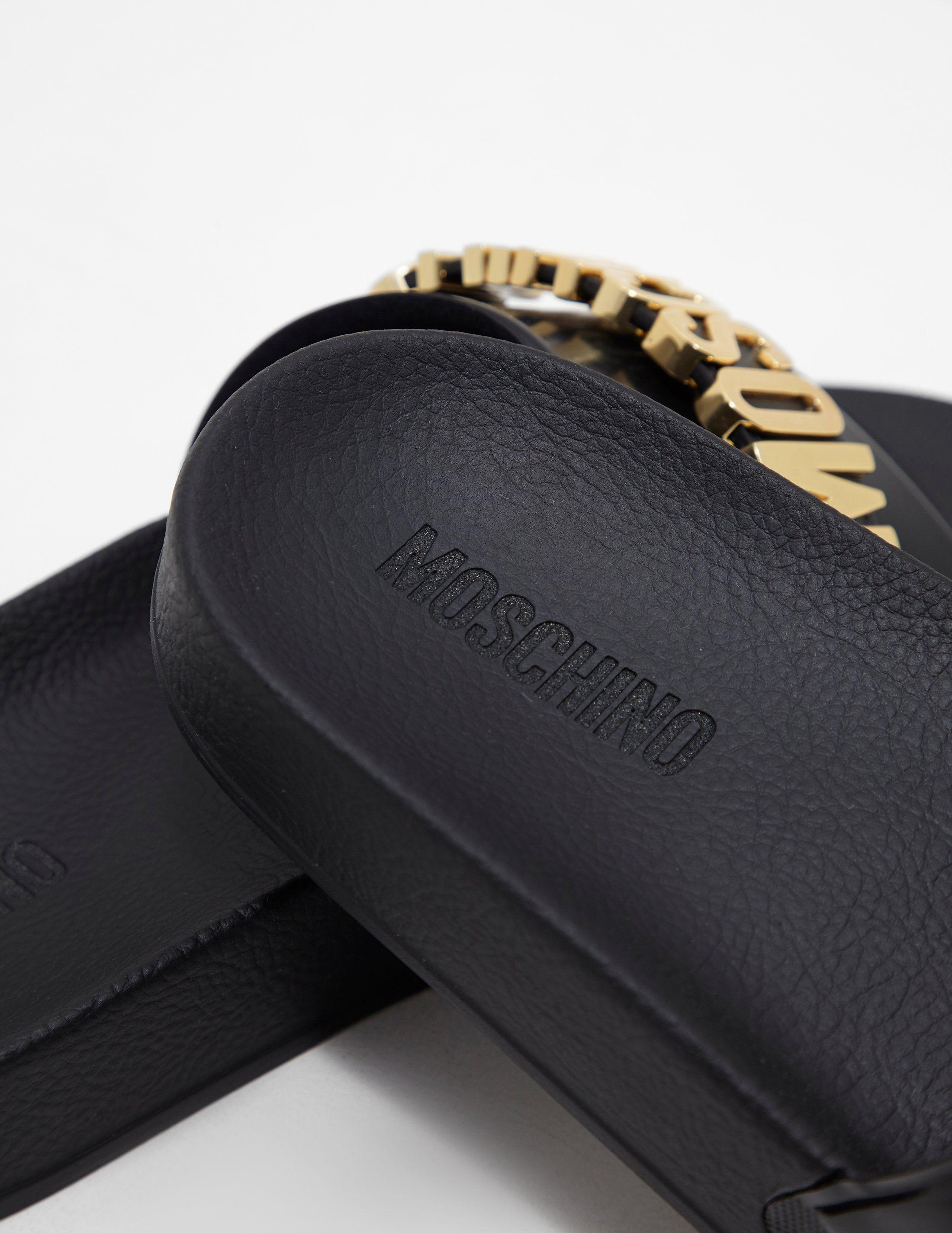 Moschino Logo Slides - Online Exclusive