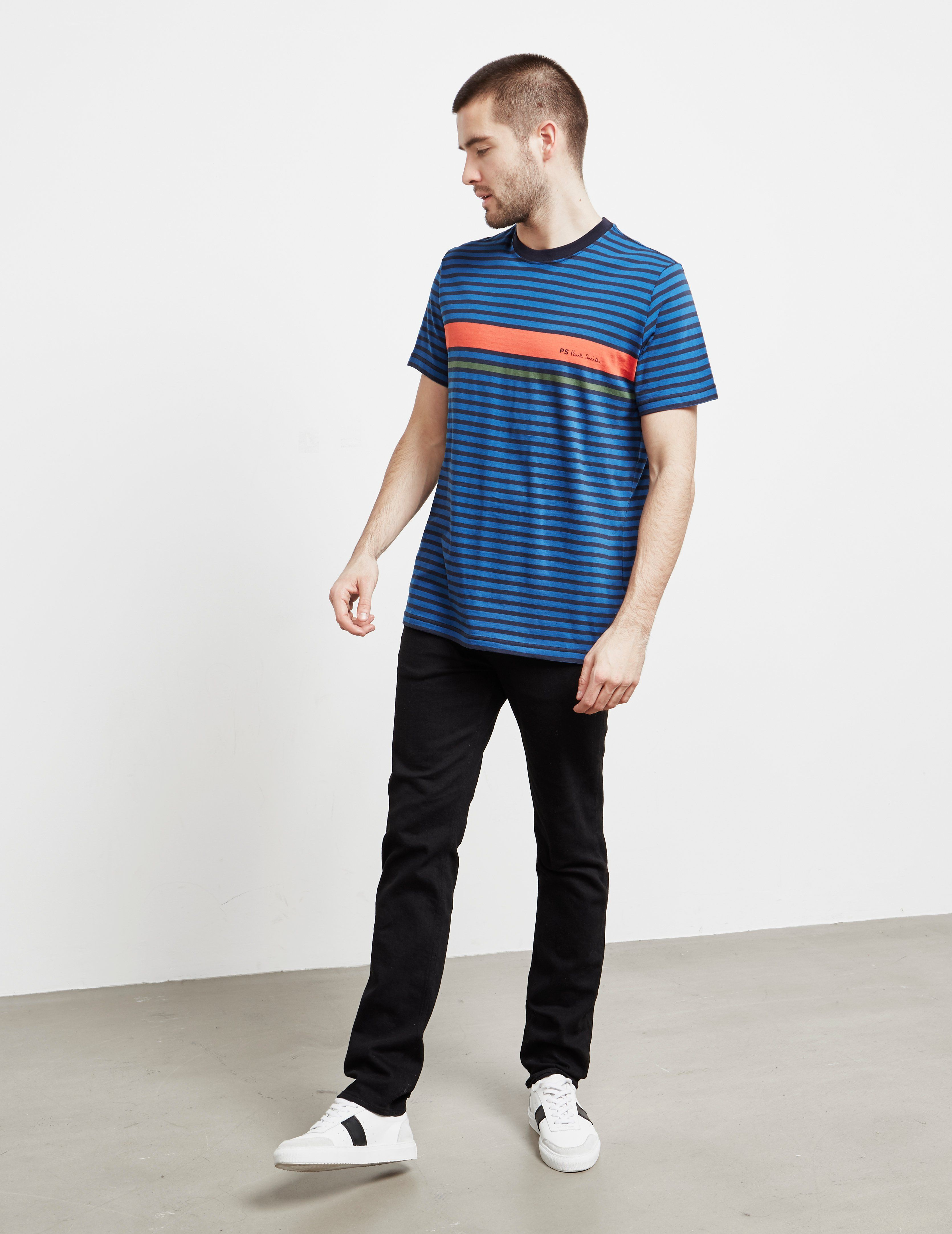 PS Paul Smith Stripe Logo Short Sleeve T-Shirt