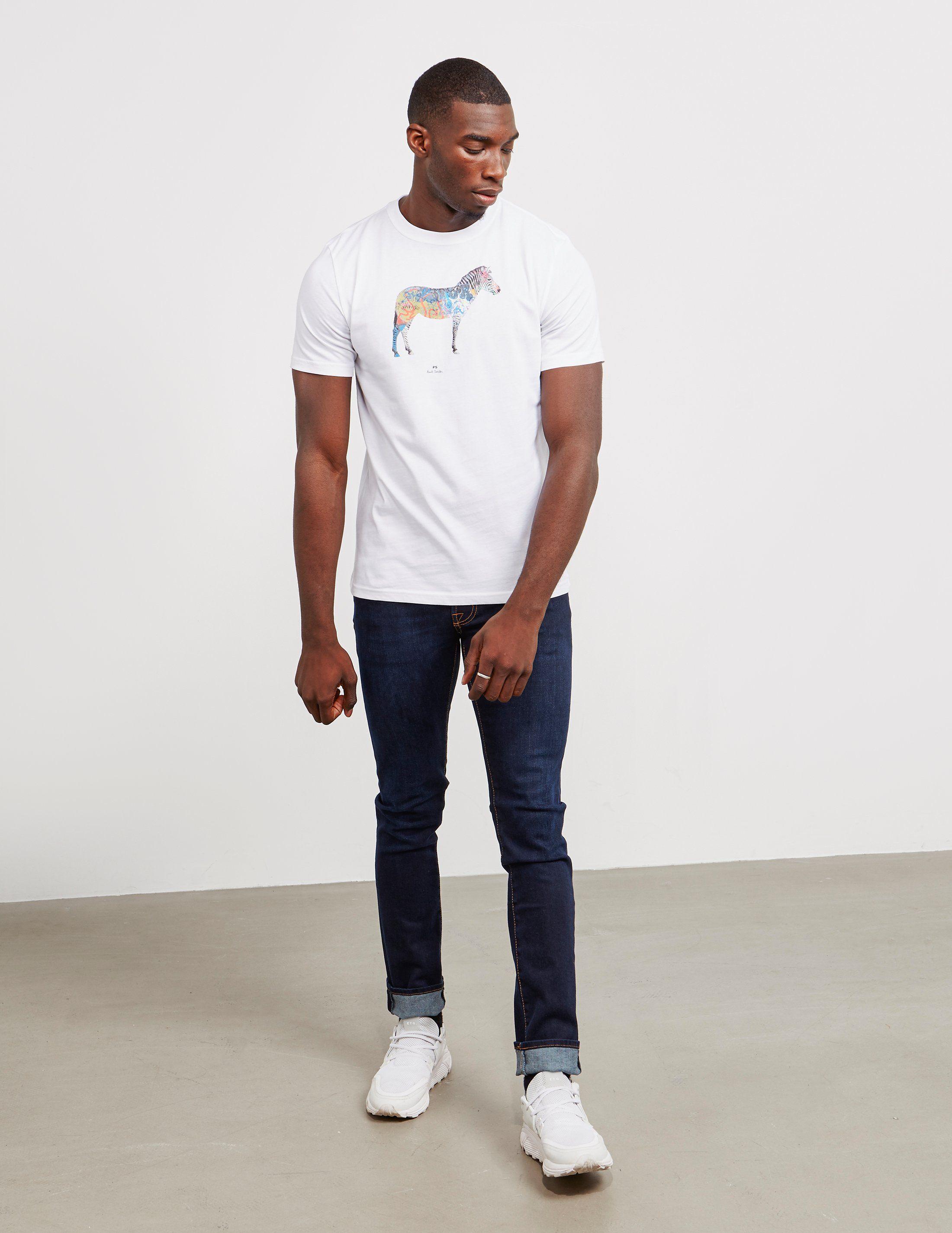 PS Paul Smith Graffiti Zebra Short Sleeve T-Shirt