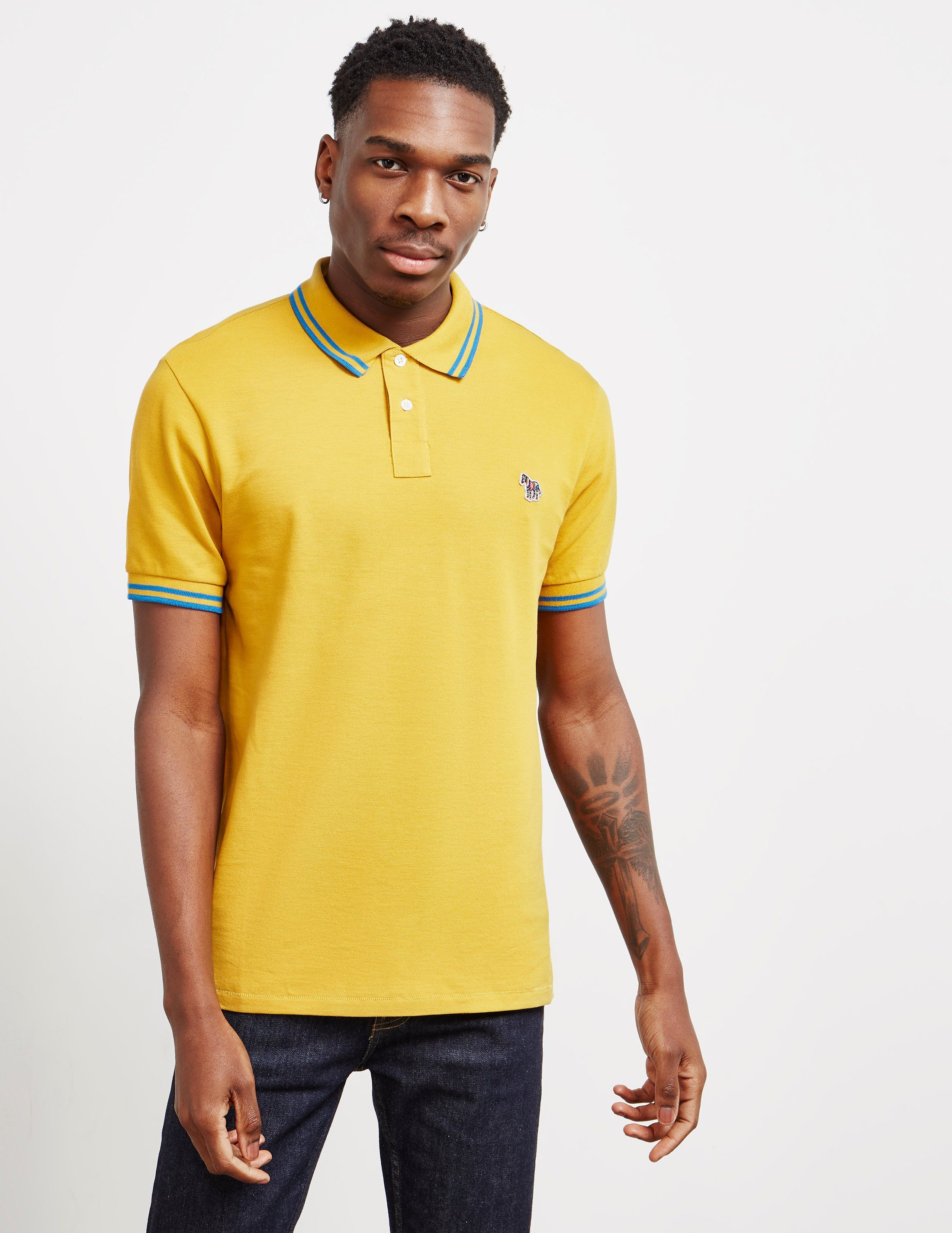 PS Paul Smith Tipped Short Sleeve Polo Shirt