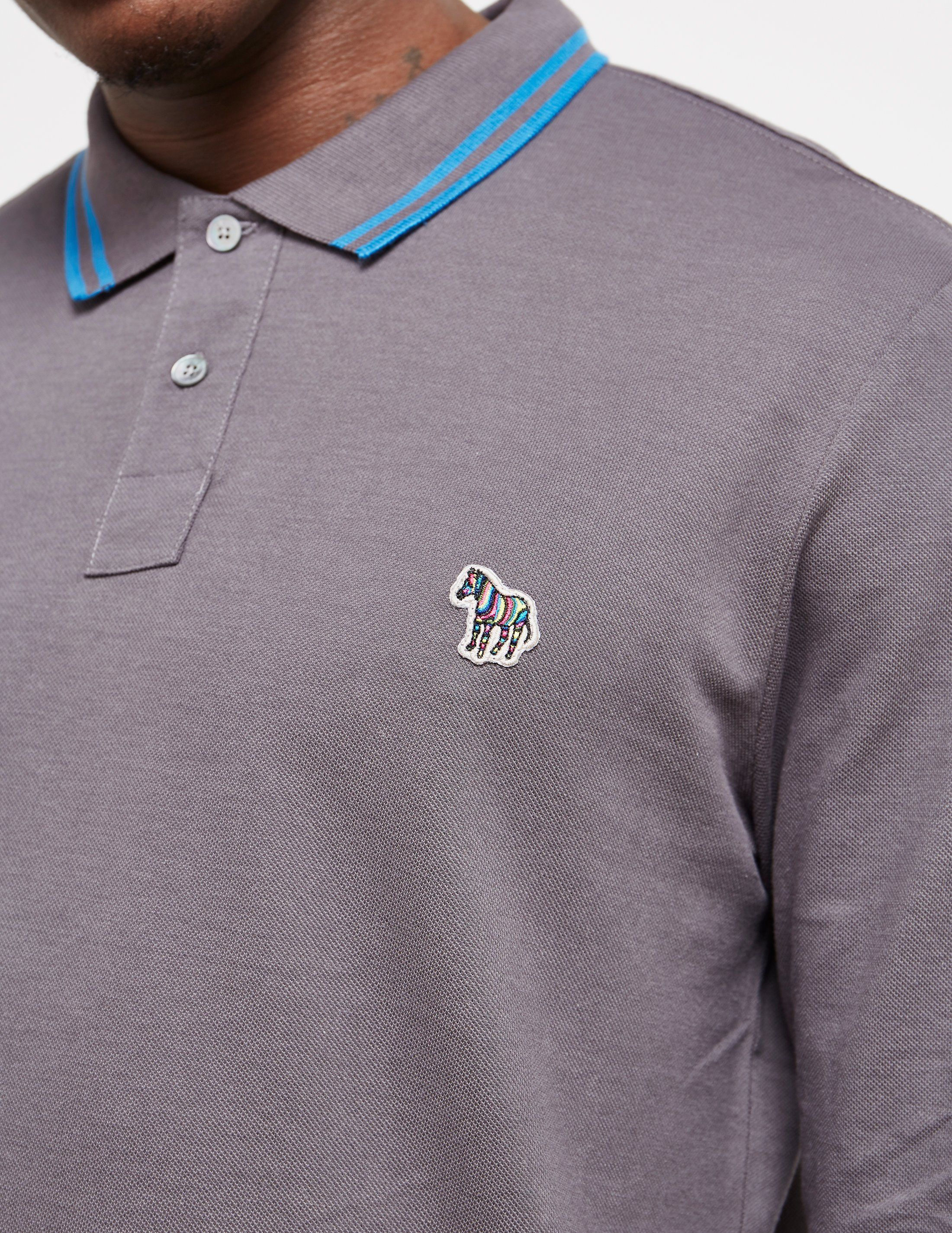 PS Paul Smith Supima Tipped Long Sleeve Polo Shirt