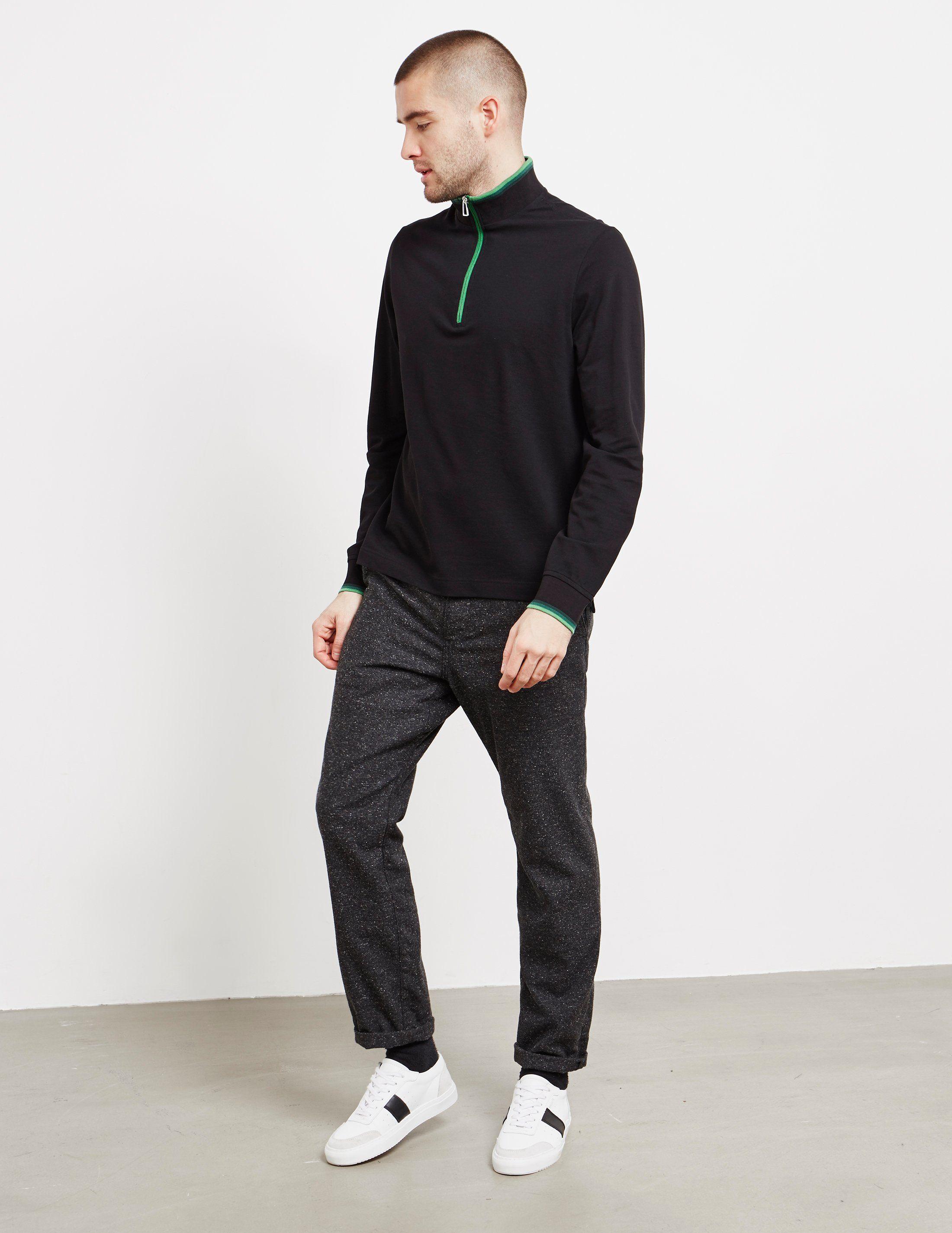 PS Paul Smith Tipped Half Zip Sweatshirt - Online Exclusive