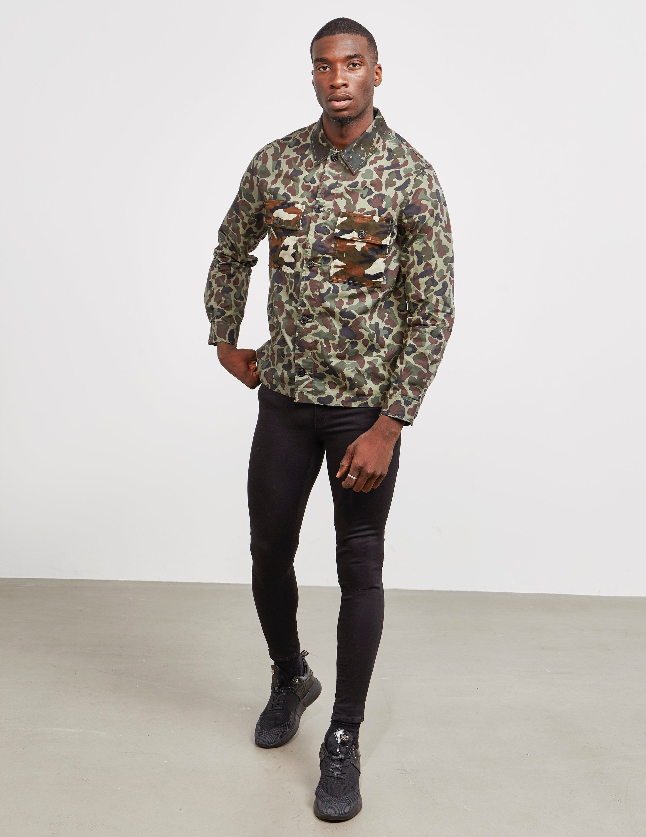 PS Paul Smith Contast Camouflage Overshirt