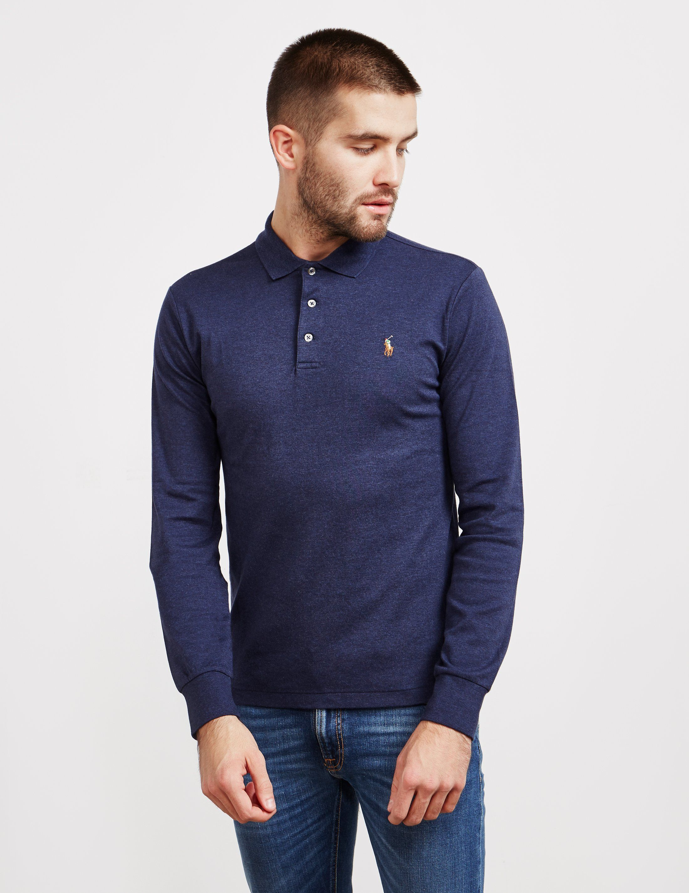 Polo Ralph Lauren Stretch Long Sleeve Polo Shirt