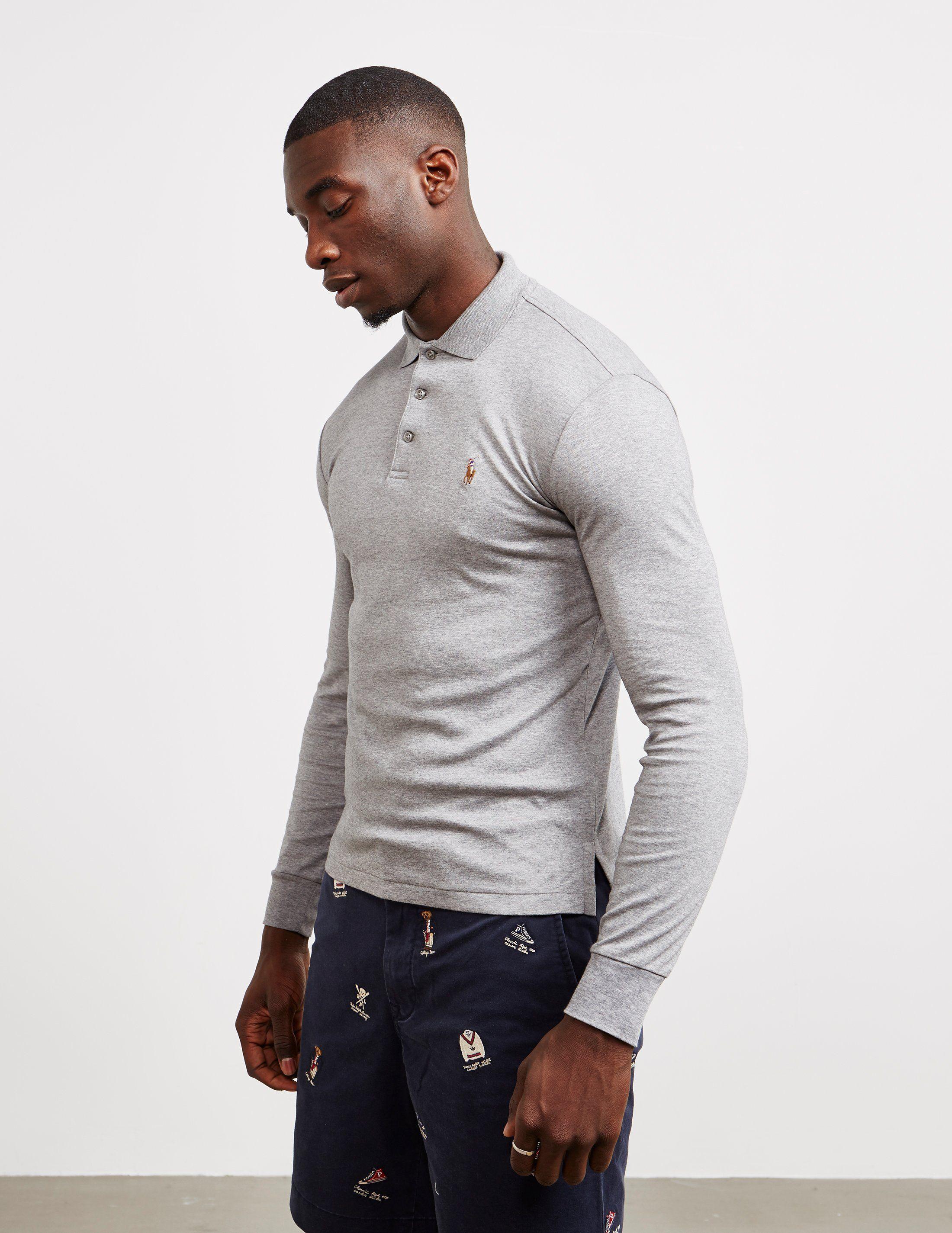 Polo Ralph Lauren Stretch Long Sleeve Polo Shirt