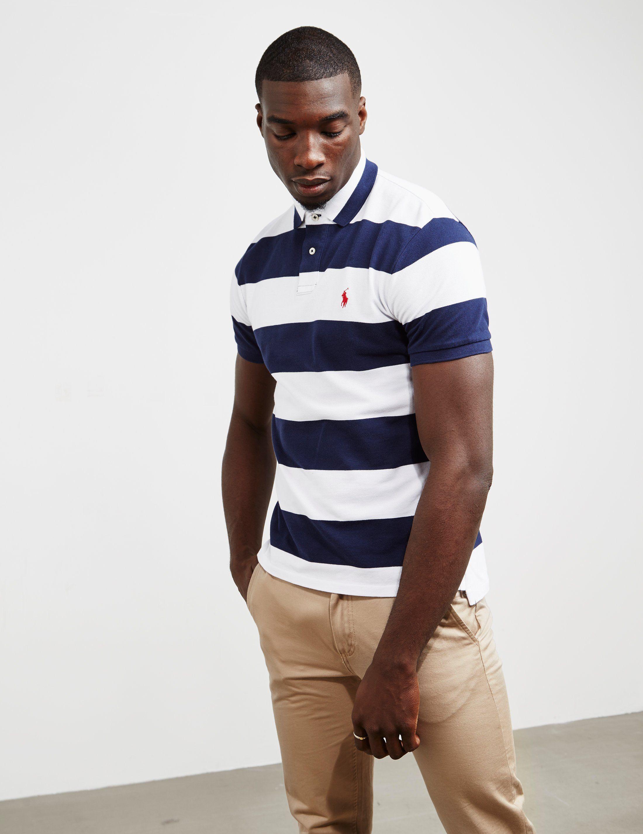 Polo Ralph Lauren Rugby Stripe Short Sleeve Polo Shirt