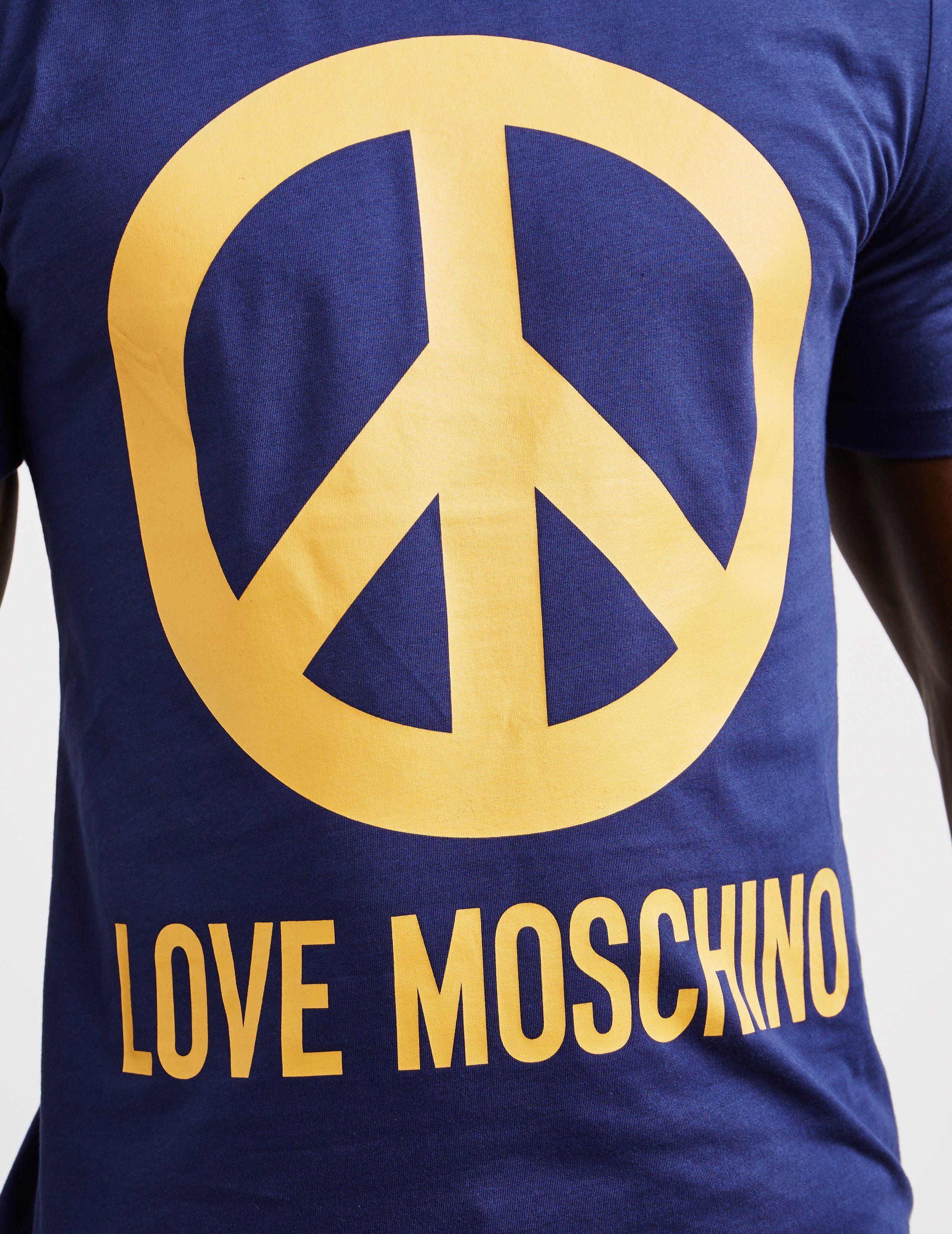 Love Moschino Large Peace Short Sleeve T-Shirt