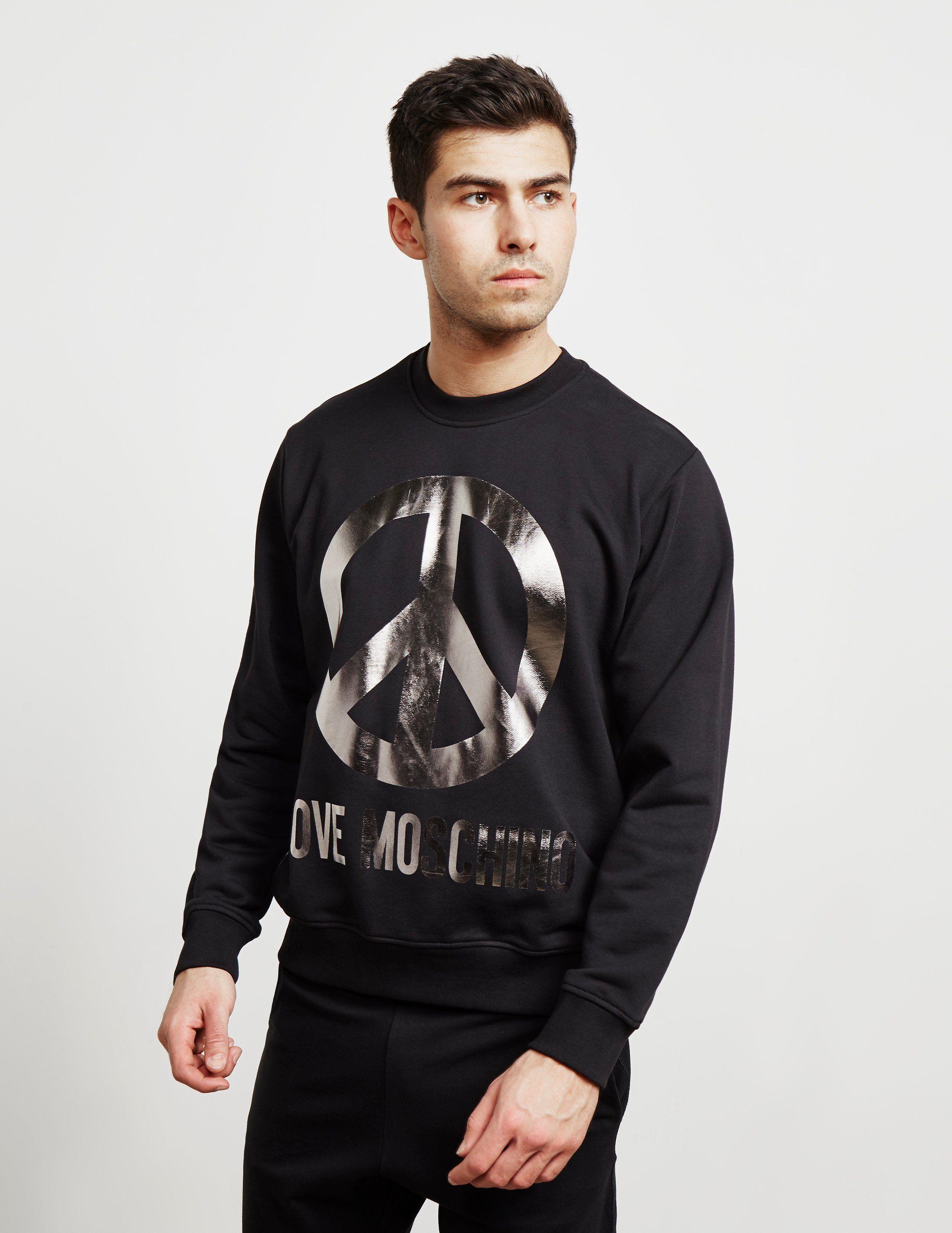 Love Moschino Foil Peace Sweatshirt