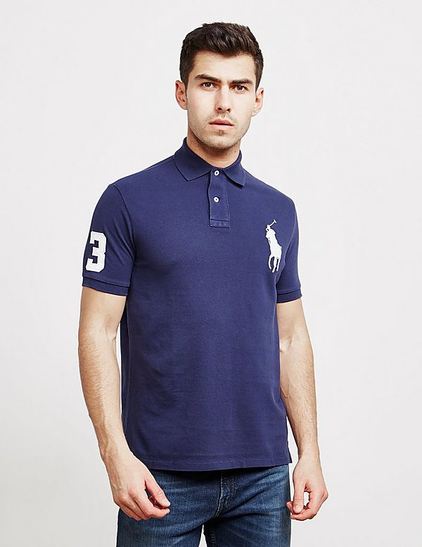 53b29801b4c97 Polo Ralph Lauren Large Embroidered Logo Short Sleeve Polo Shirt ...