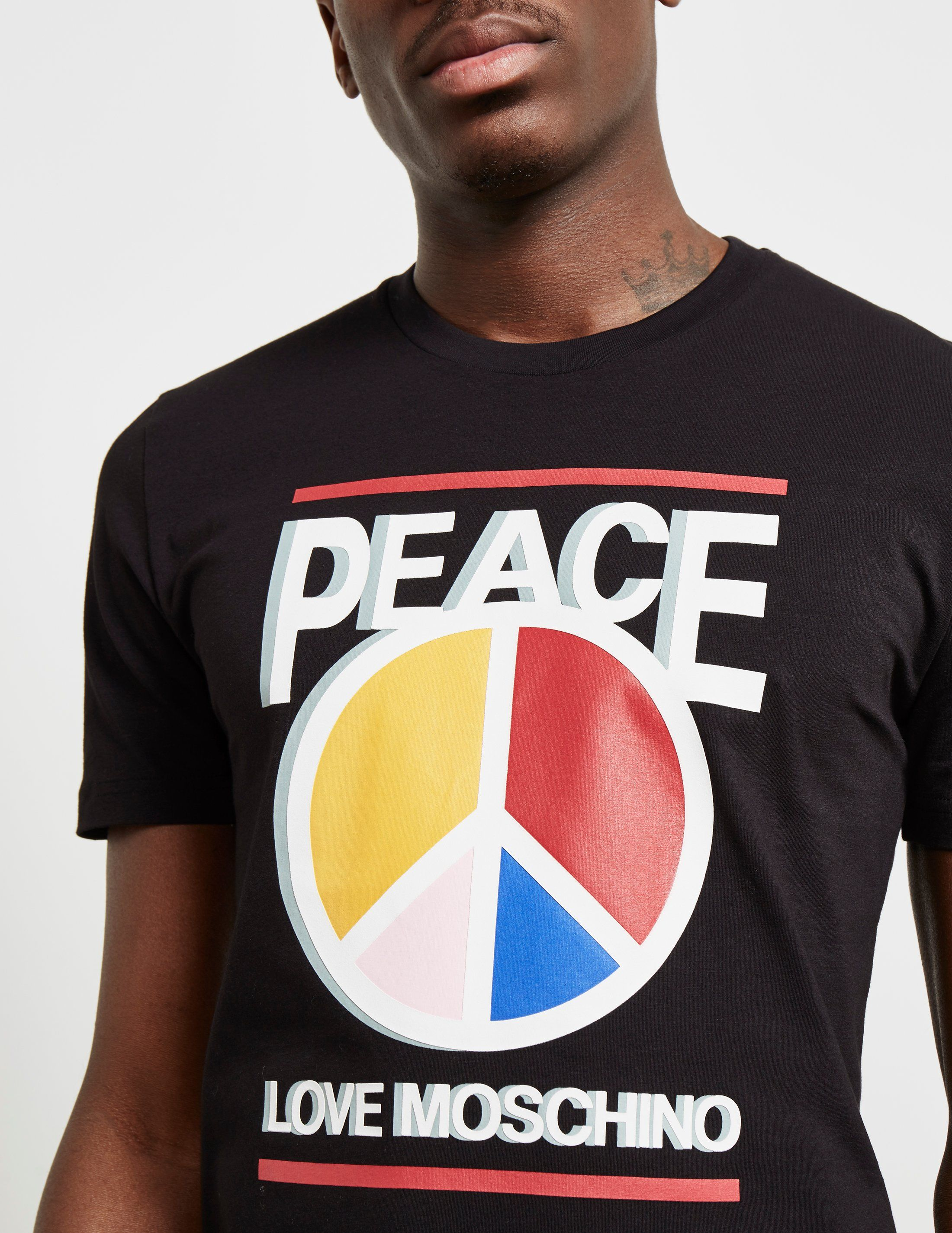 Love Moschino Colour Peace Short Sleeve T-Shirt