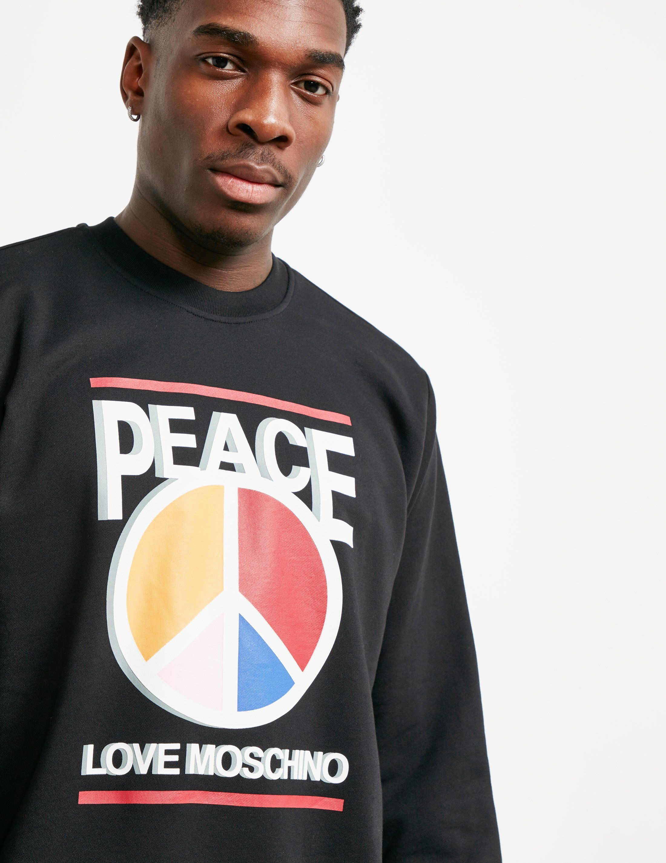 Love Moschino Peace Colour Sweatshirt