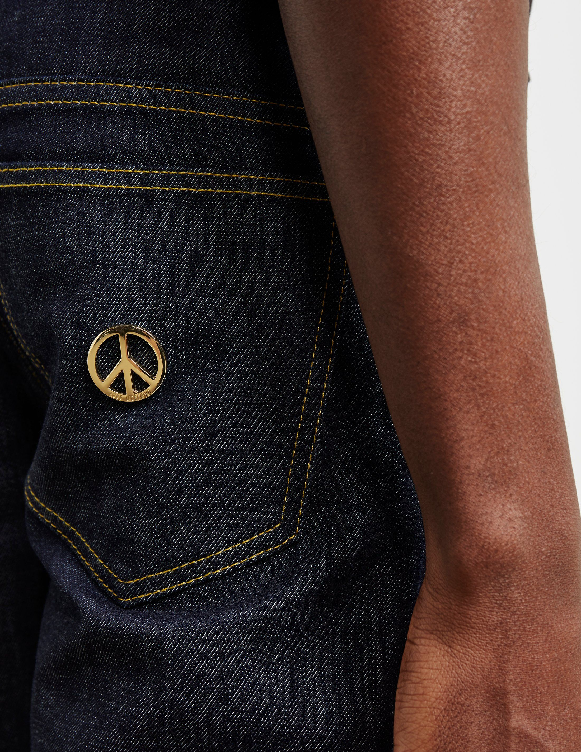 Love Moschino Five Pocket Peace Jeans