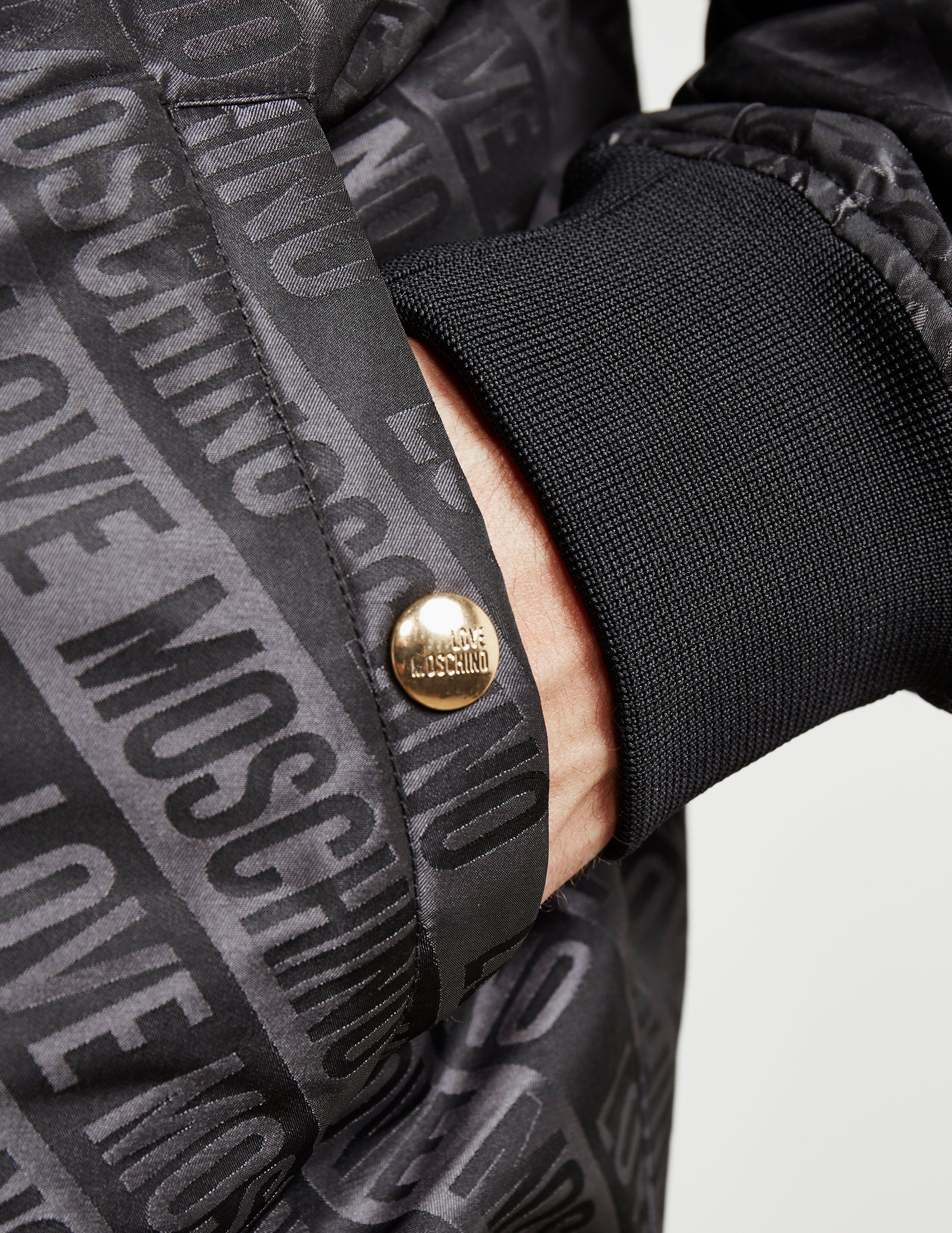 Love Moschino All Over Print Bomber Jacket