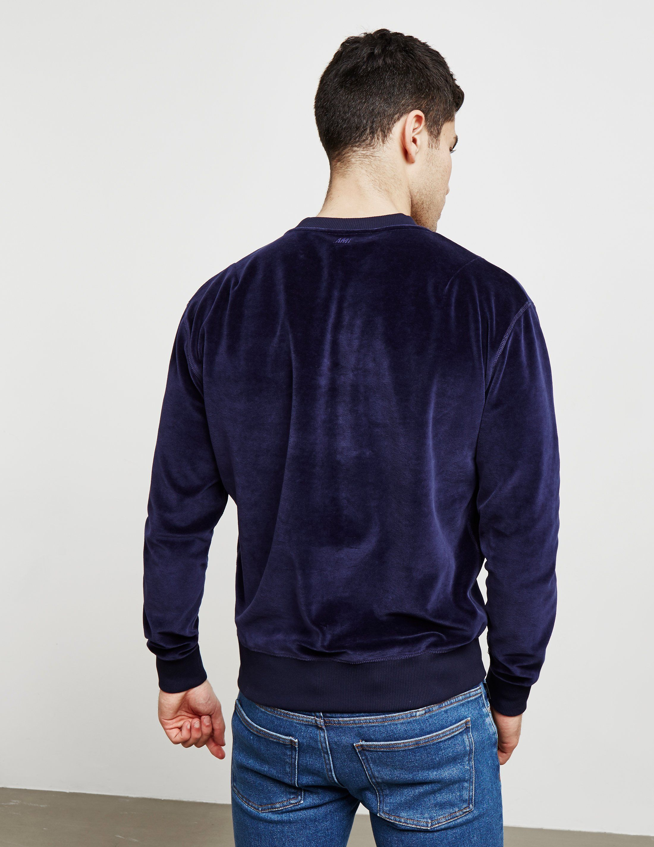 AMI Paris Velvet Sweatshirt