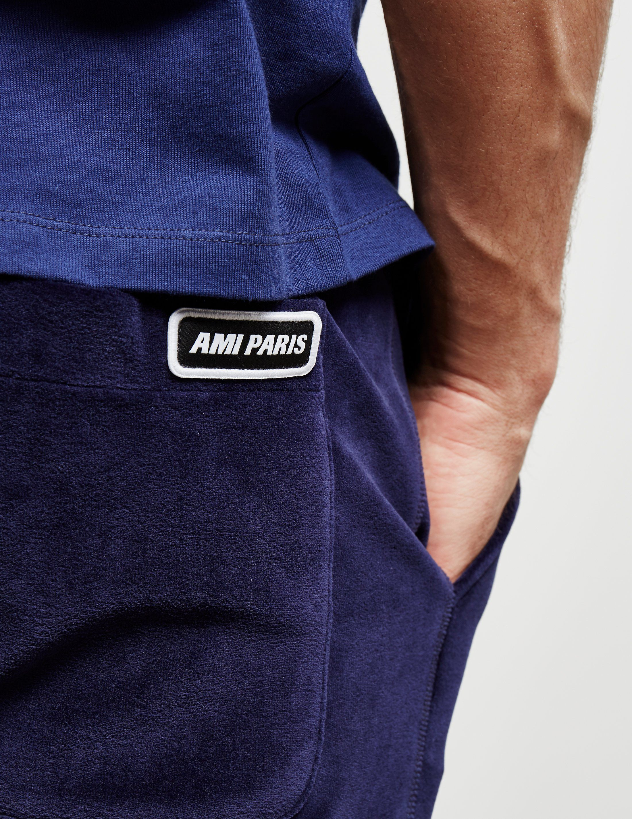 AMI Paris Velvet Track Pants - Online Exclusive