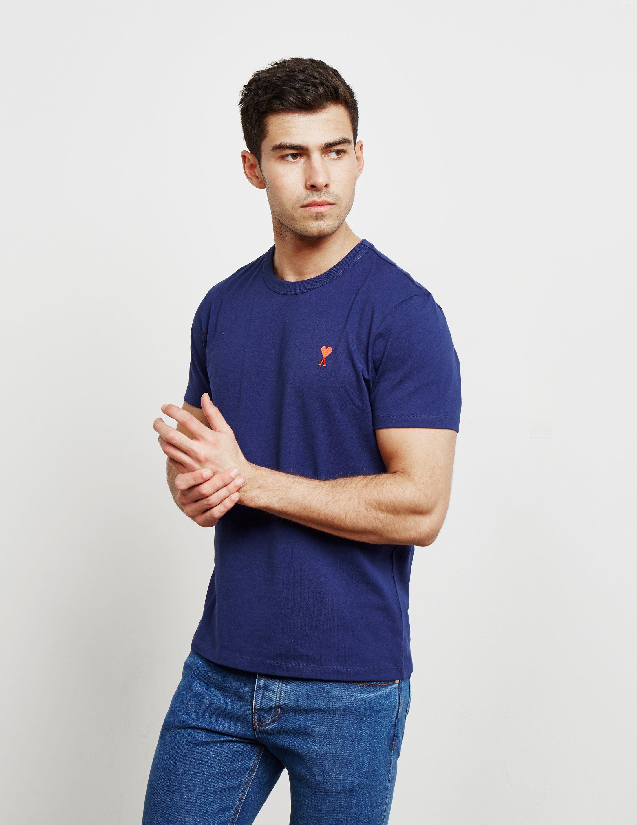 AMI Paris Heart Logo Short Sleeve T-Shirt