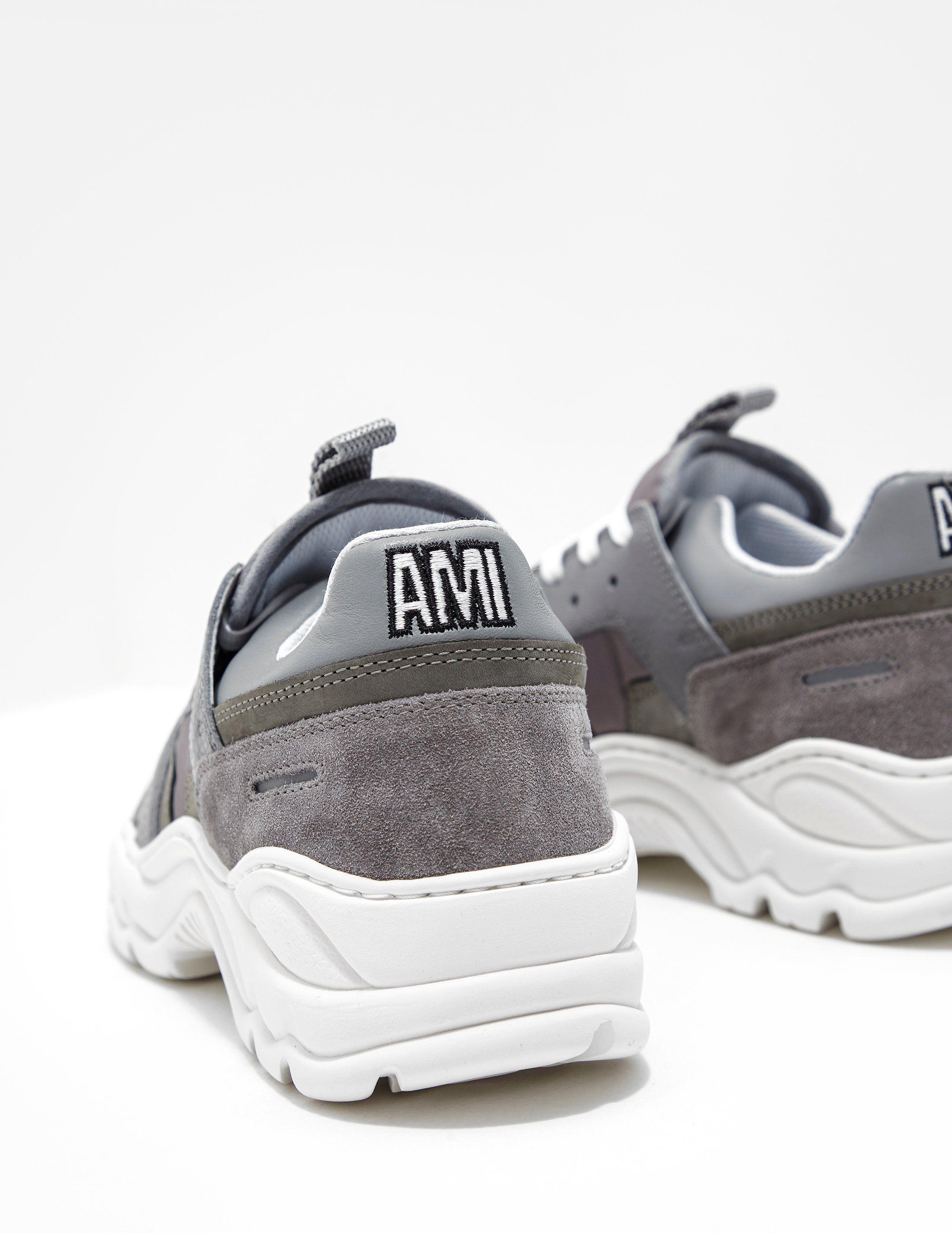 AMI Paris Leather Run