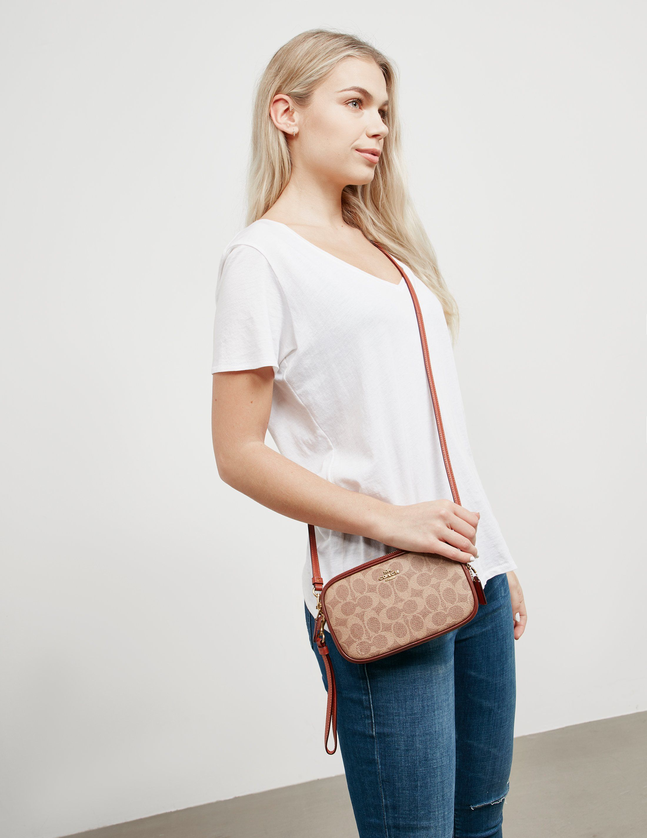 COACH Signature Canvas Shoulder Bag