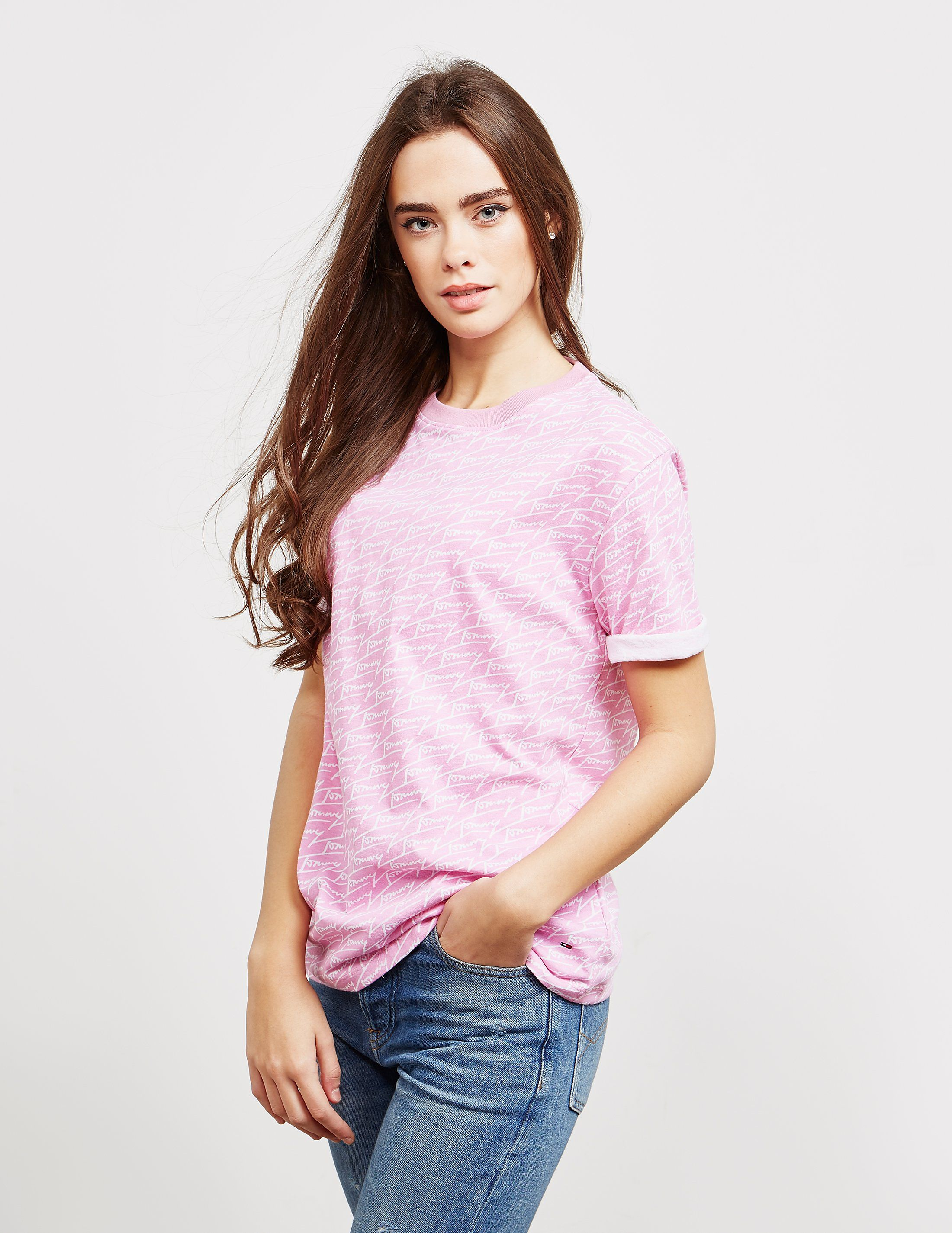 ced7e604 Tommy Jeans Logo Shirt Pink - Aztec Stone and Reclamations