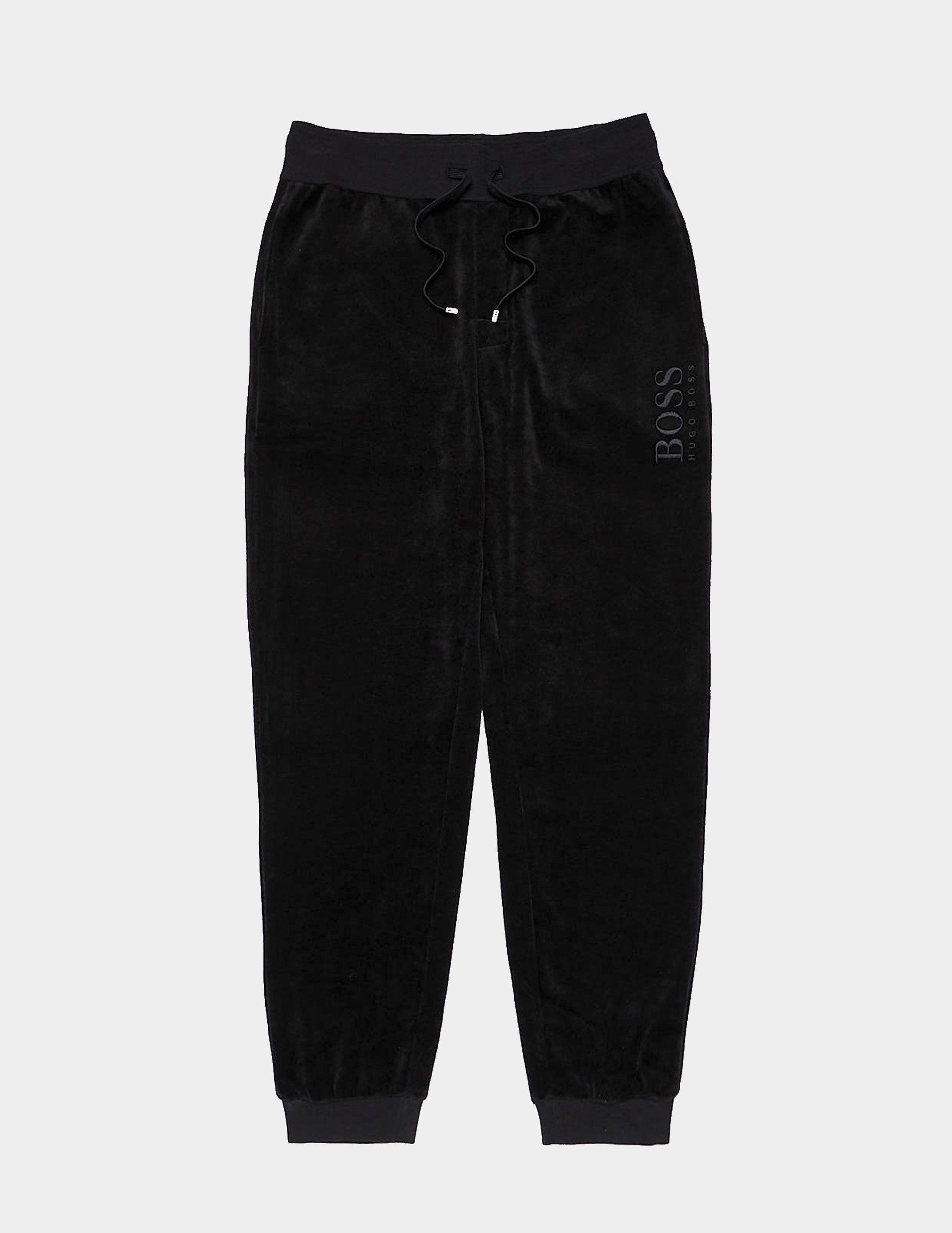 BOSS Velour Cuffed Track Pants