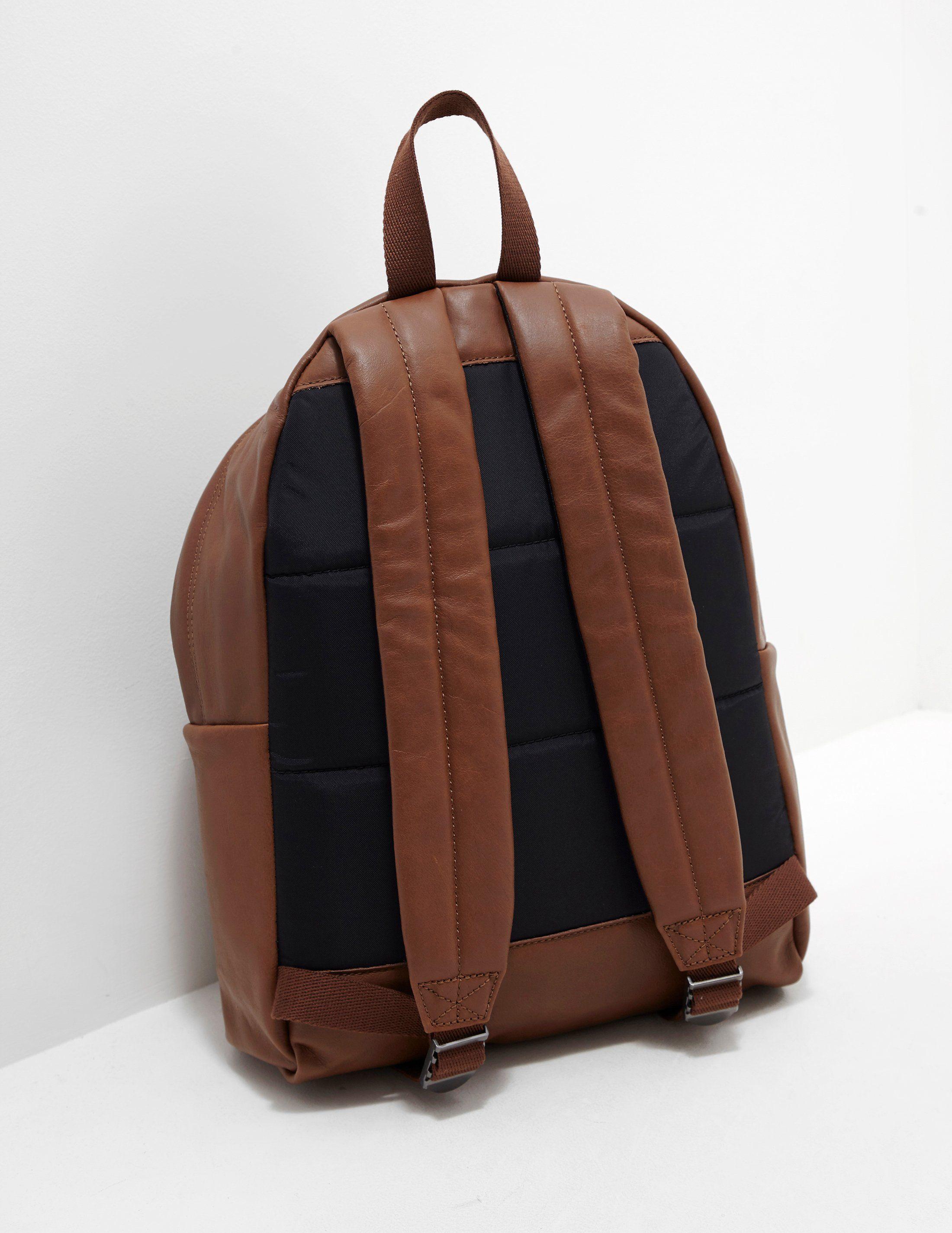Eastpak Leather Padded Backpack