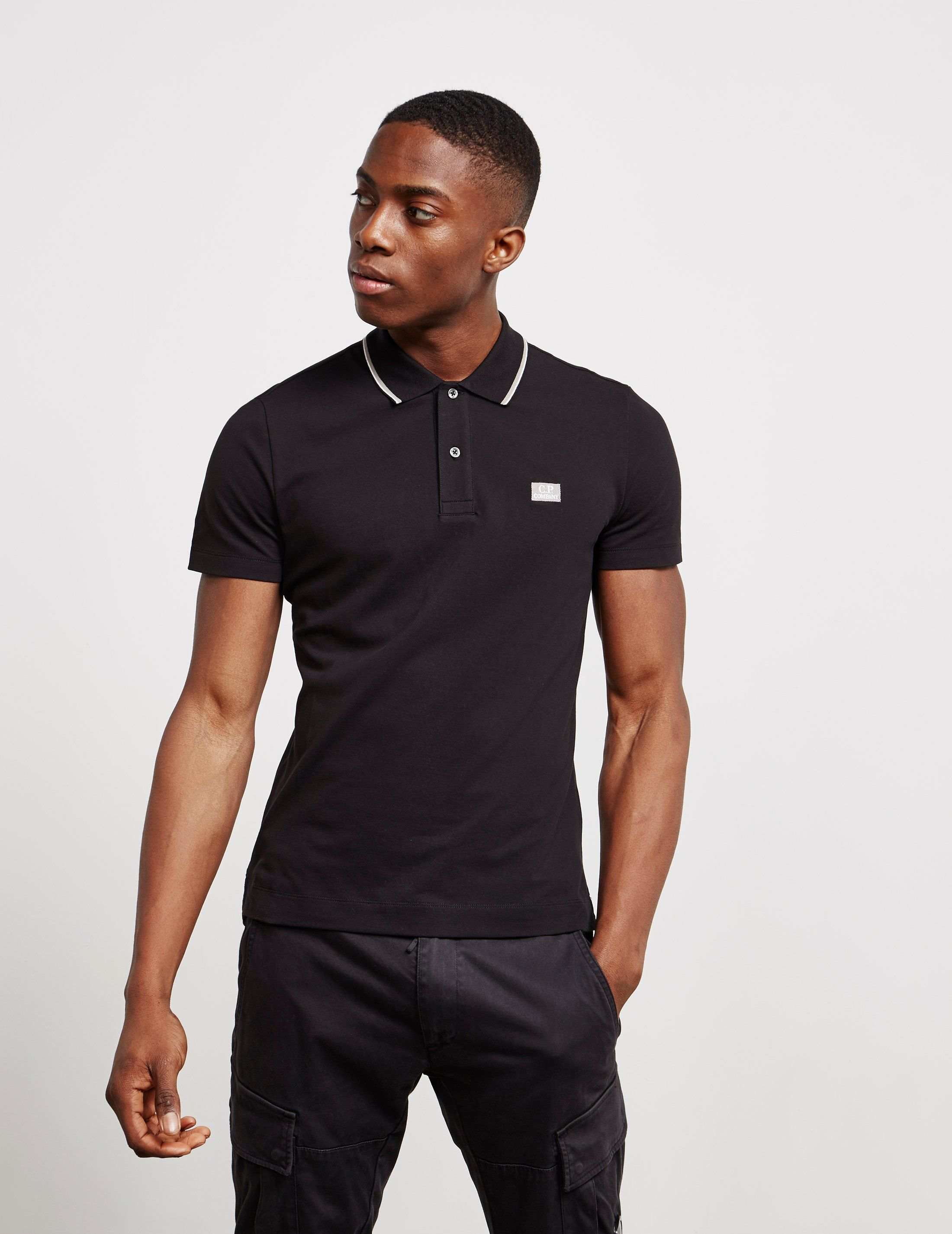 CP Company Tipped Short Sleeve Polo Shirt