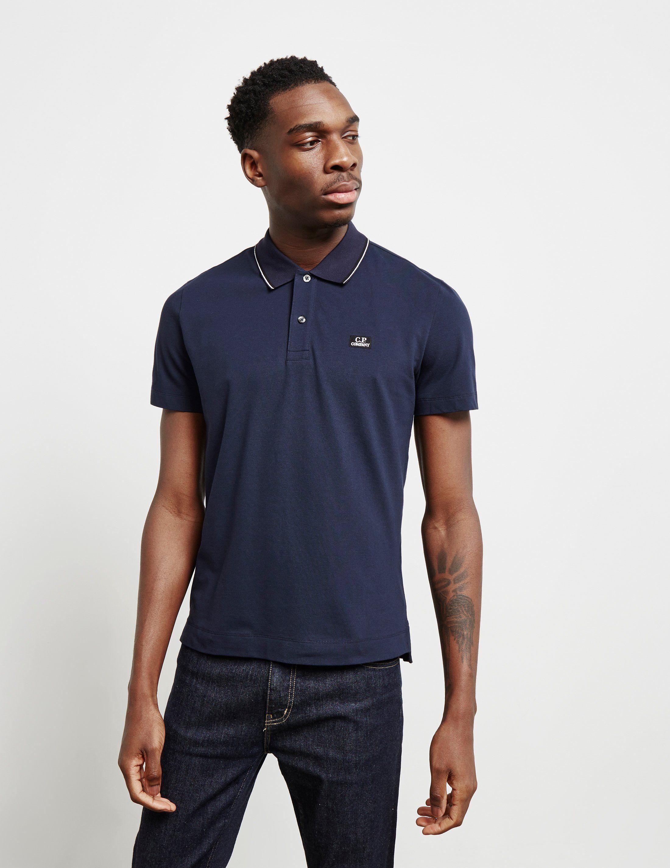 CP Company Tipped Short Sleeve Polo Shirt