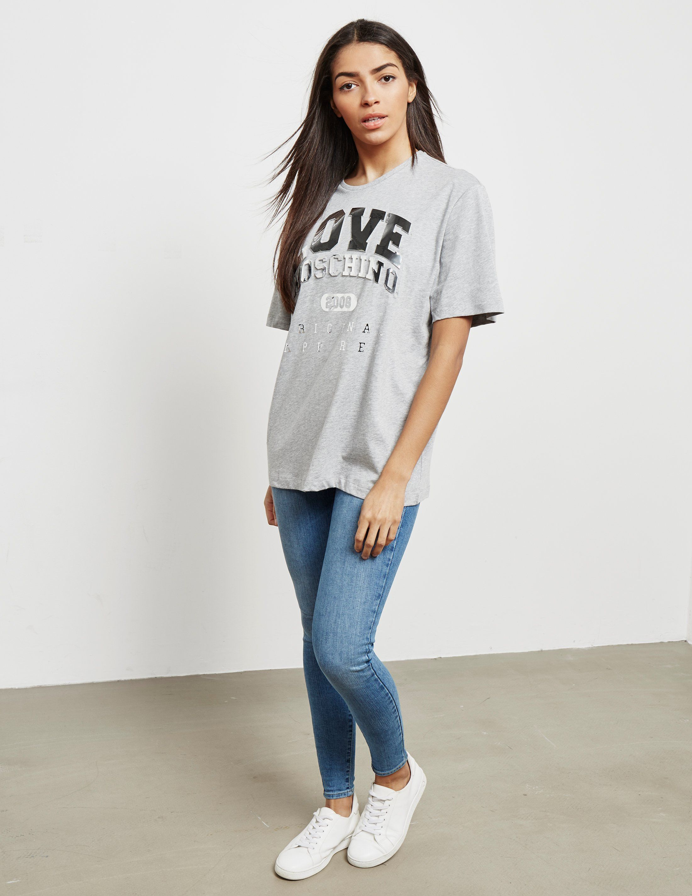 Love Moschino Foil Logo Short Sleeve T-Shirt
