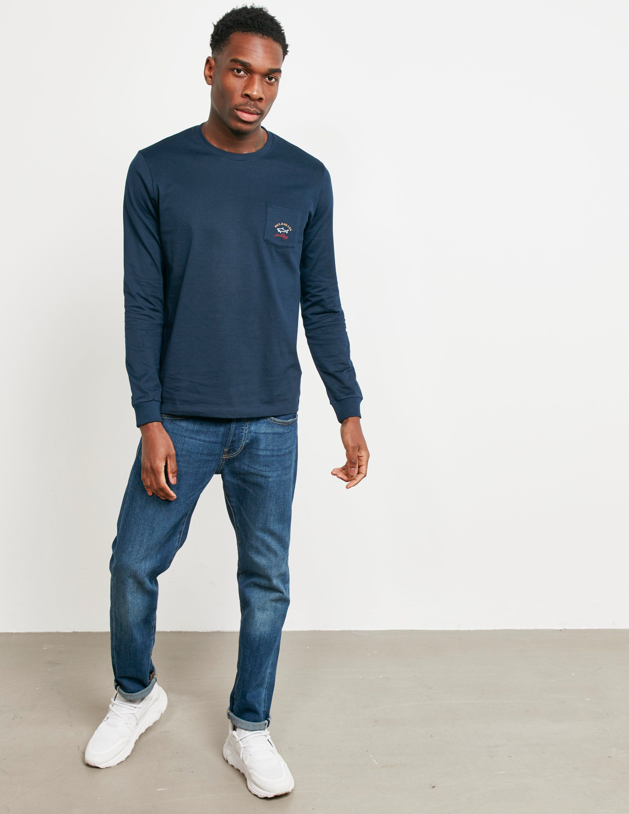 Paul and Shark Long Sleeve Pocket T-Shirt