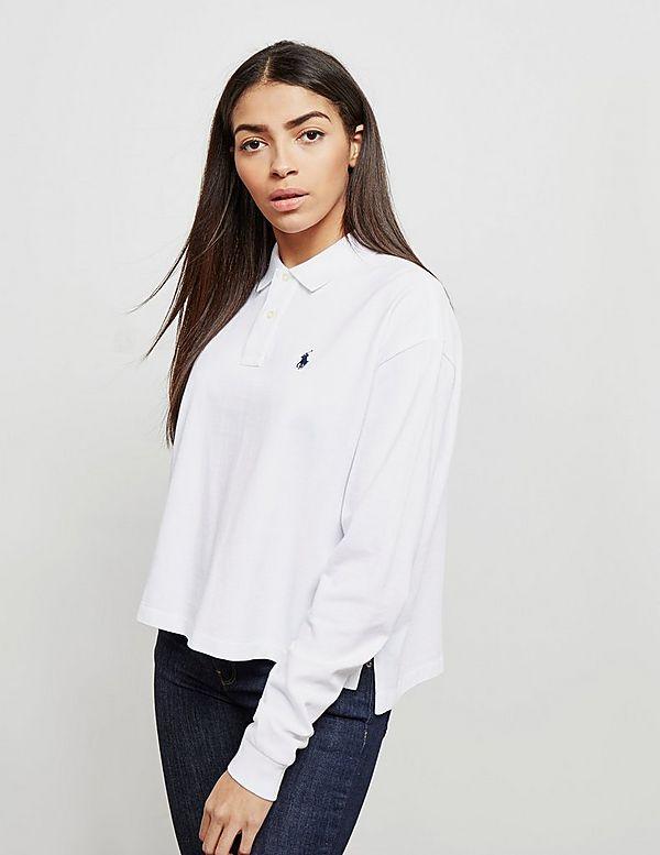 Polo Ralph Lauren Cropped Long Sleeve Polo Shirt   Tessuti 5e654940969b