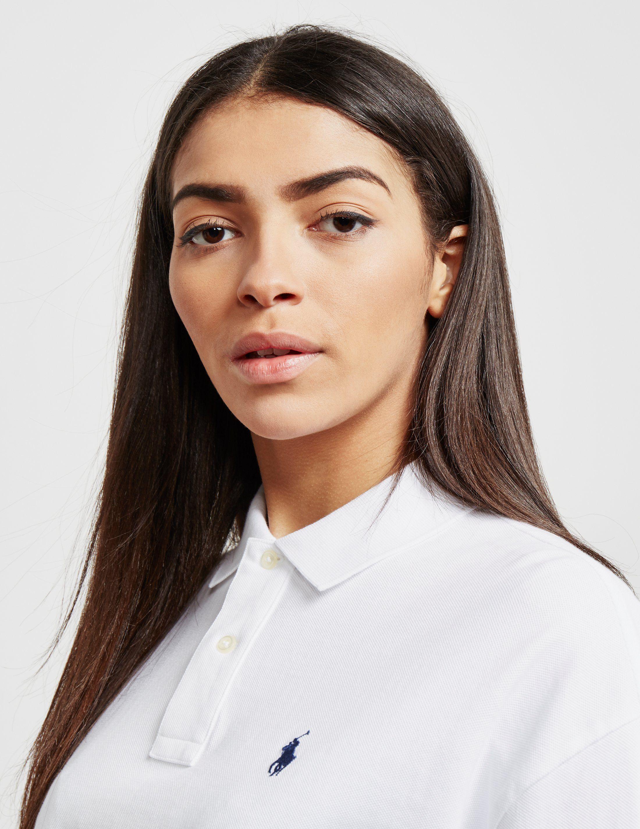 Polo Ralph Lauren Cropped Long Sleeve Polo Shirt