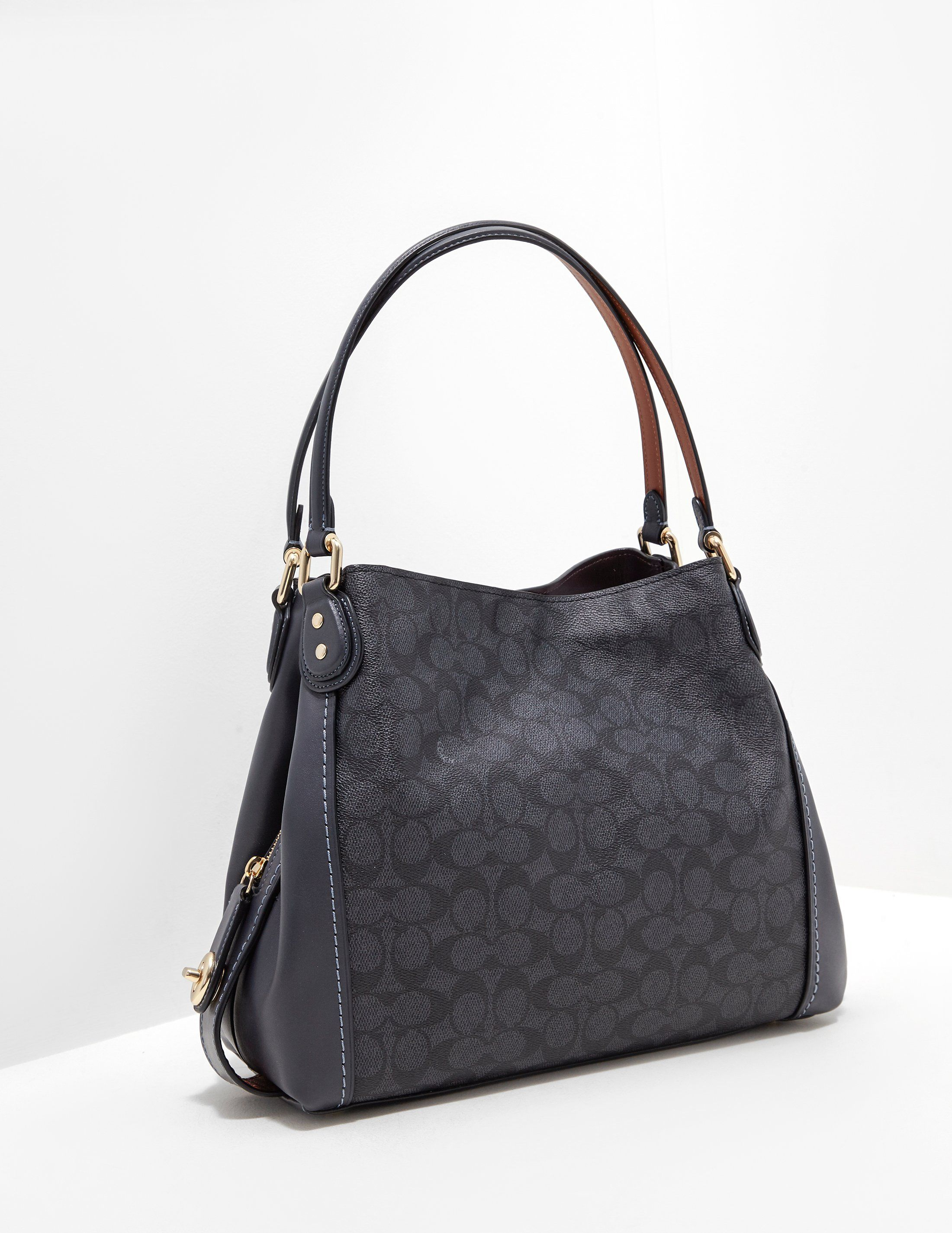 COACH Edie Signature Shoulder Bag
