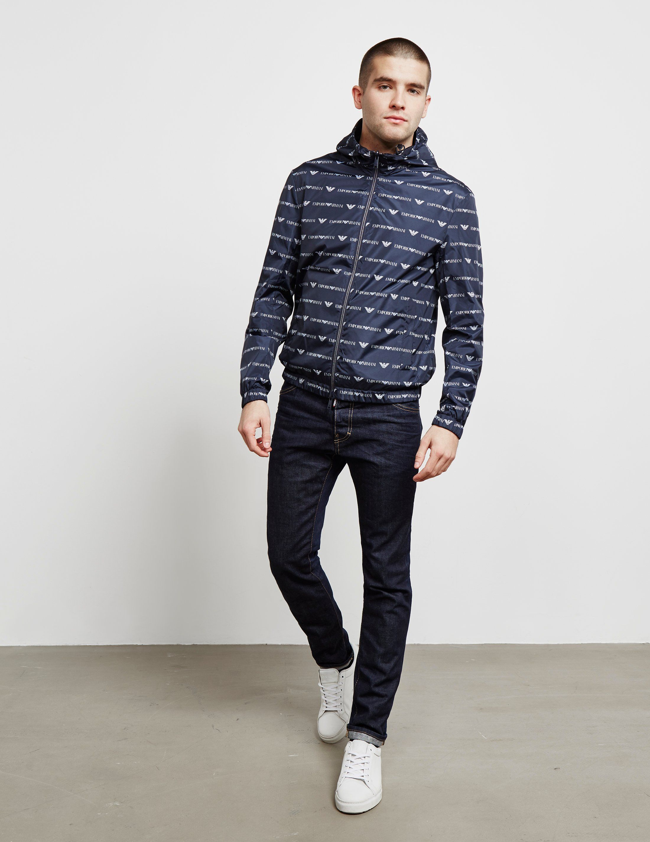 Emporio Armani All Over Print Reversible Jacket