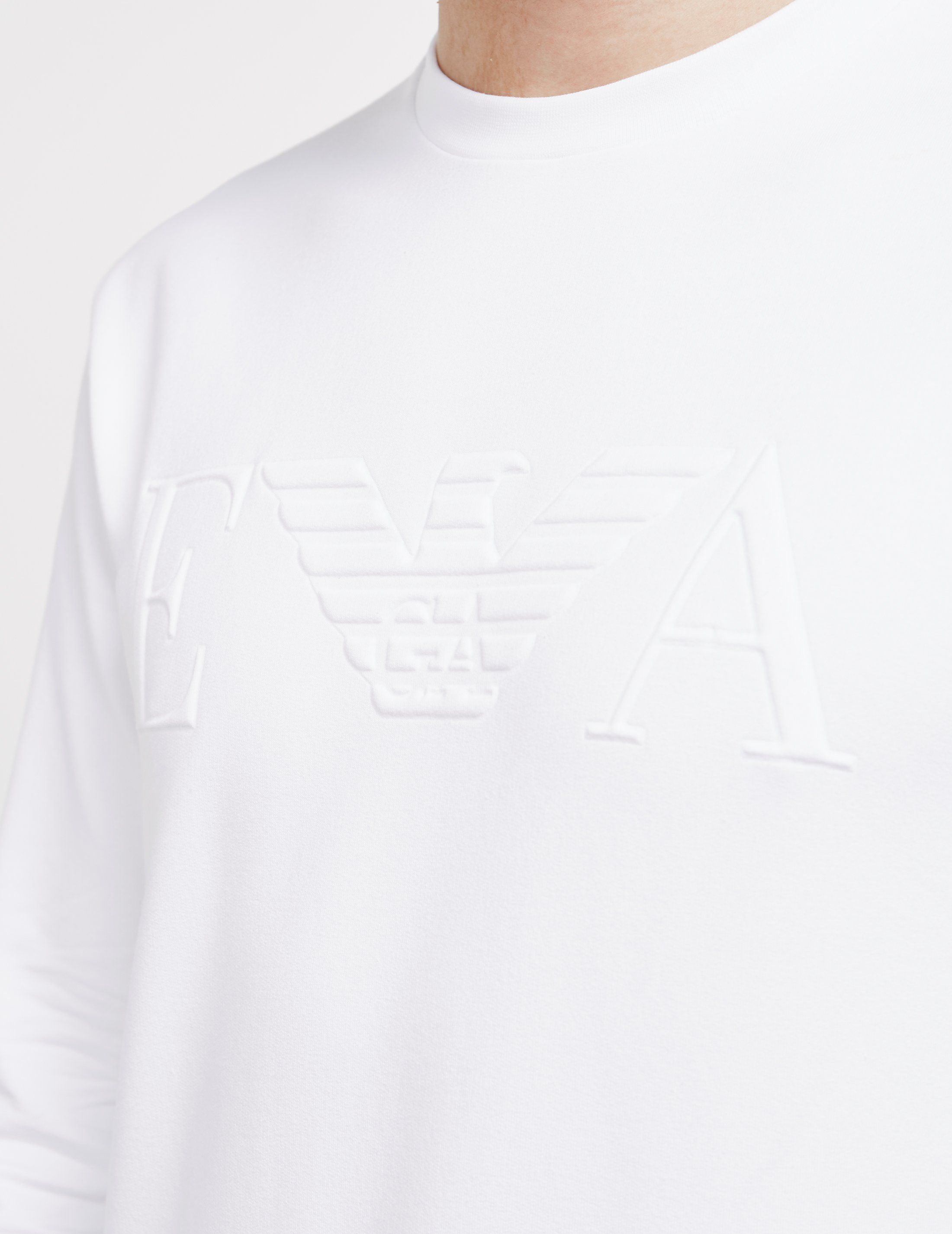 Emporio Armani Embossed Eagle Crew Sweatshirt