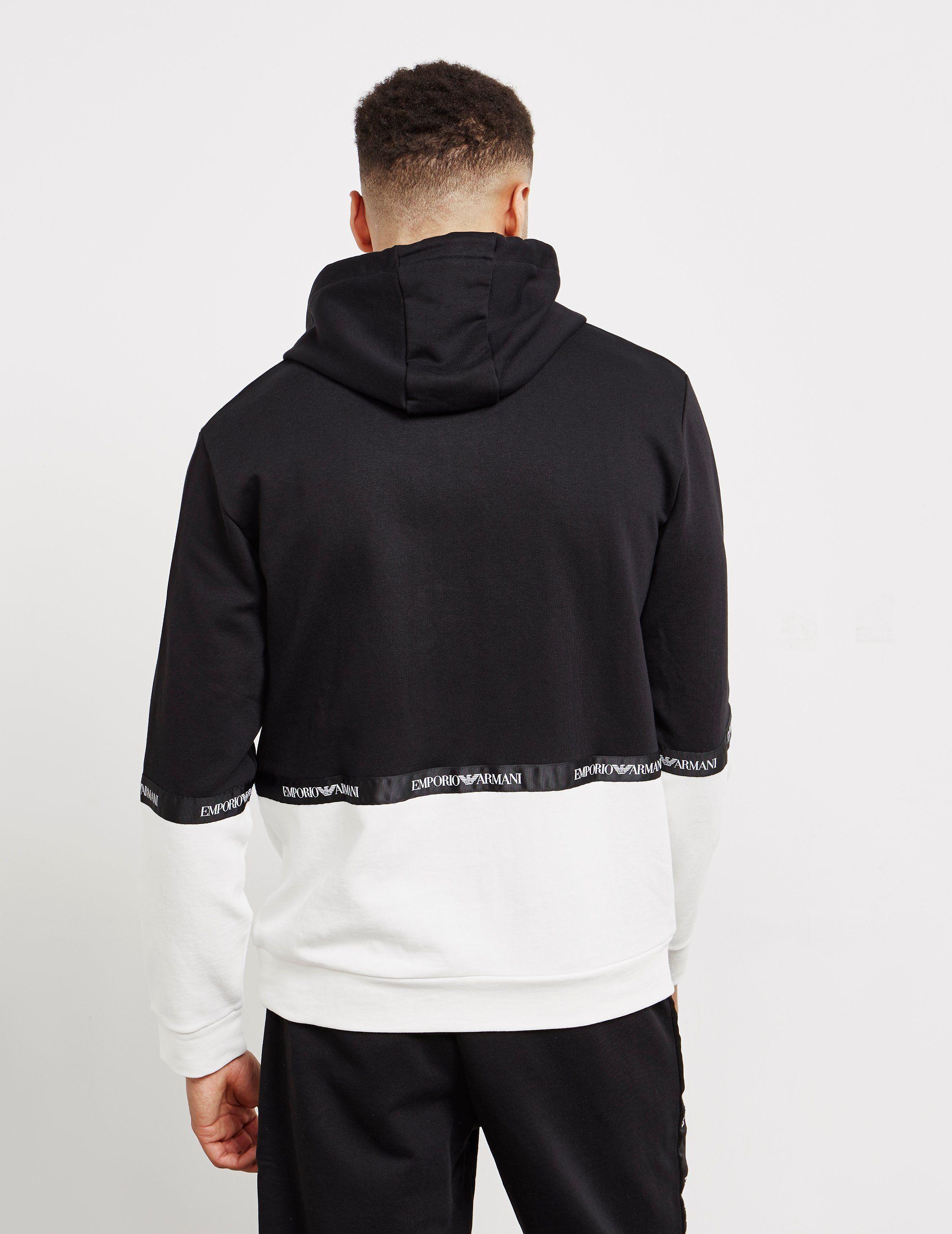 Emporio Armani Tape Contrast Hoodie