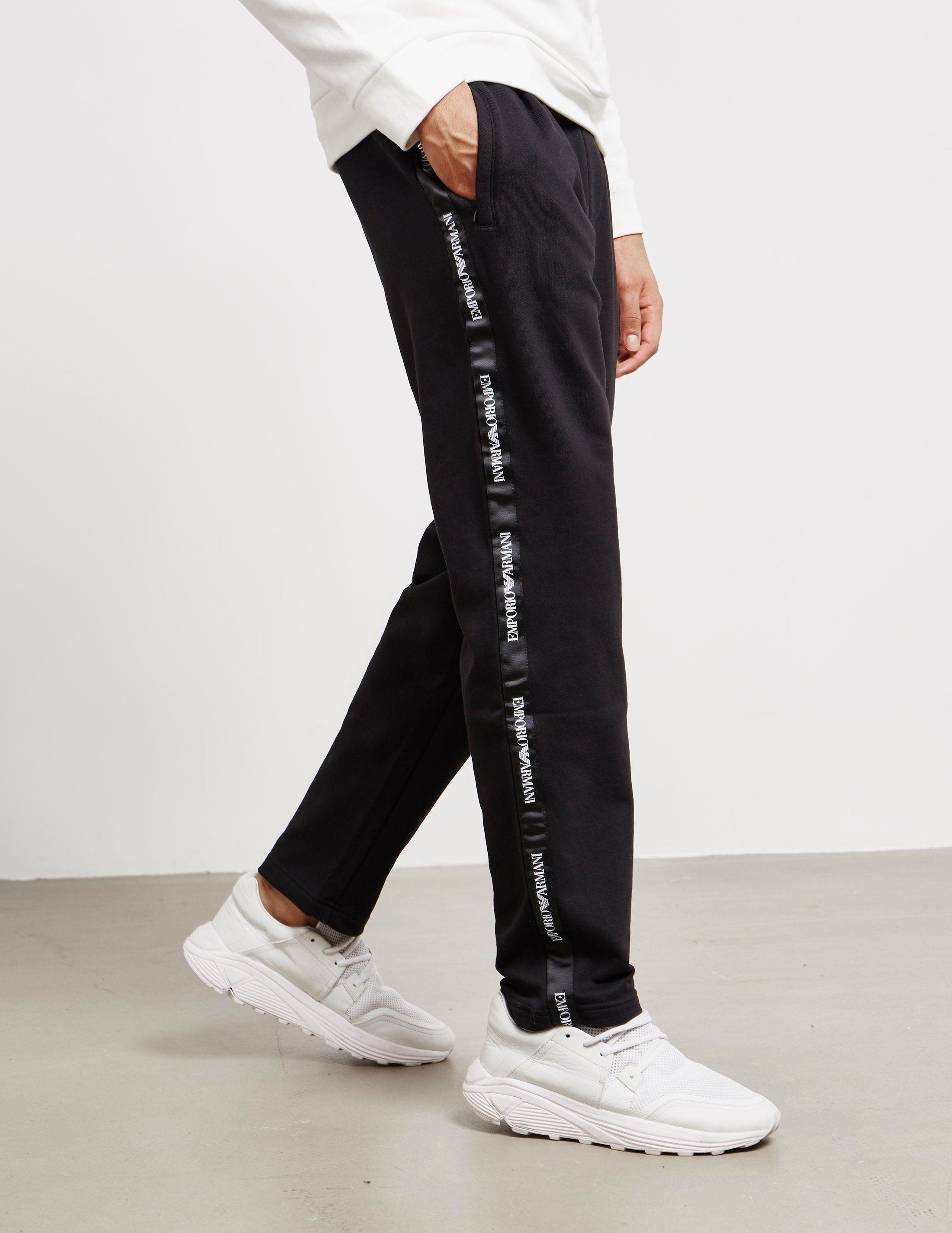 Emporio Armani Tape Contrast Track Pants