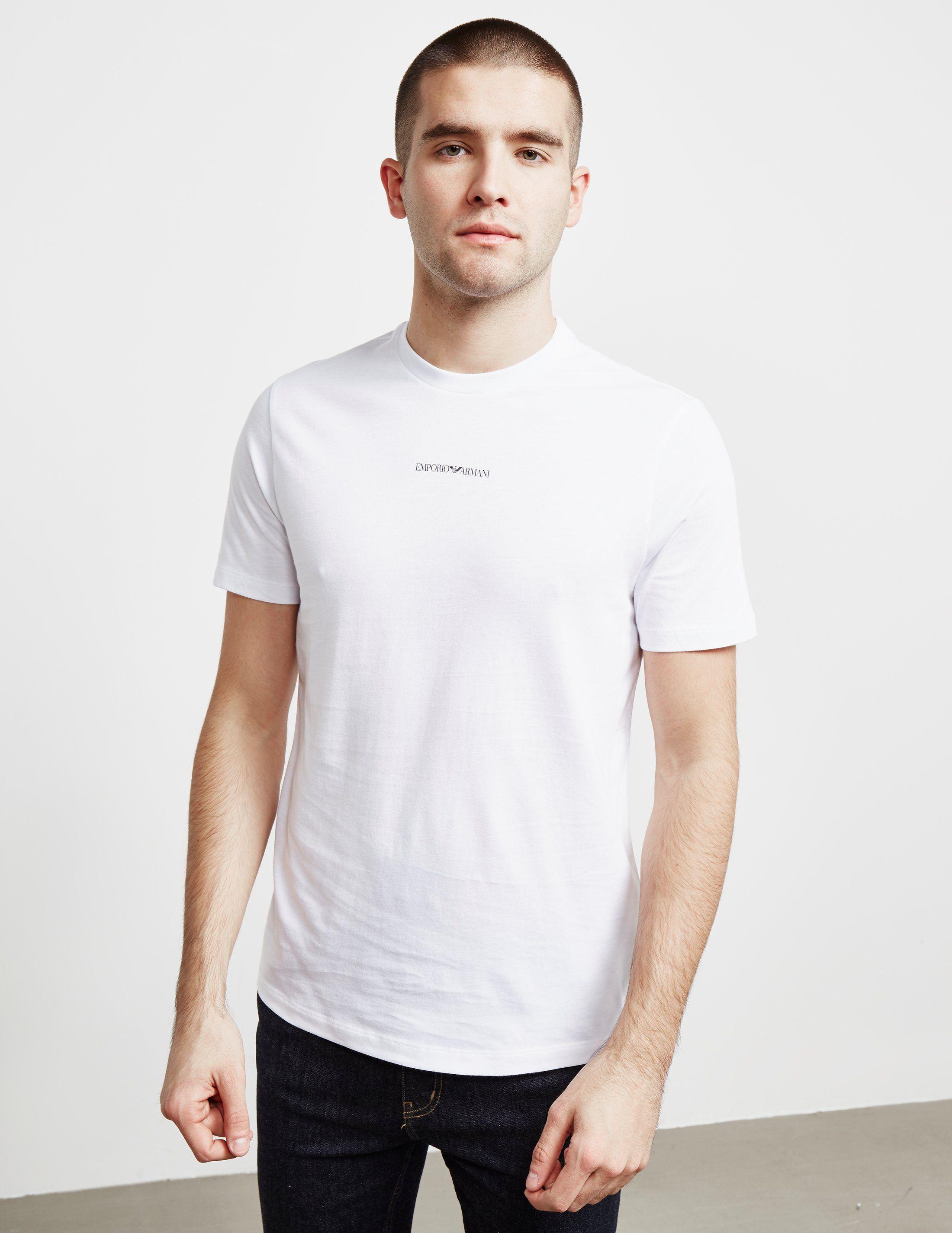 Emporio Armani Central Logo Short Sleeve T-Shirt