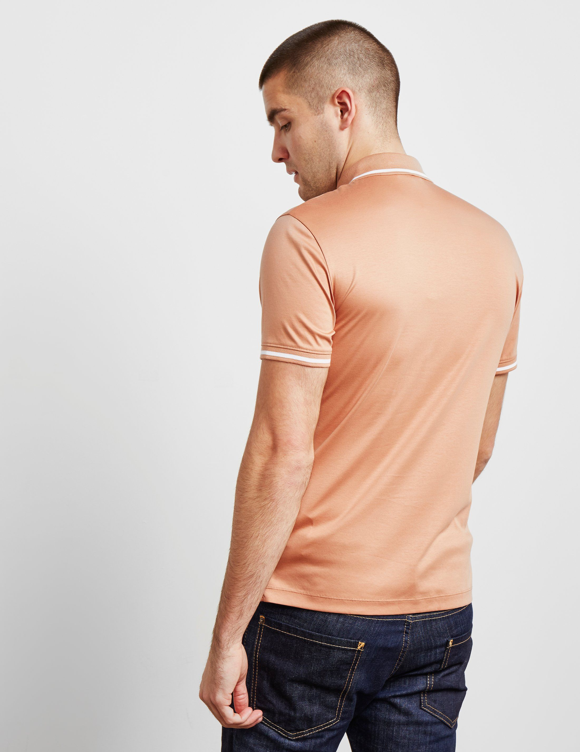Emporio Armani Tipped Collar Short Sleeve Polo Shirt