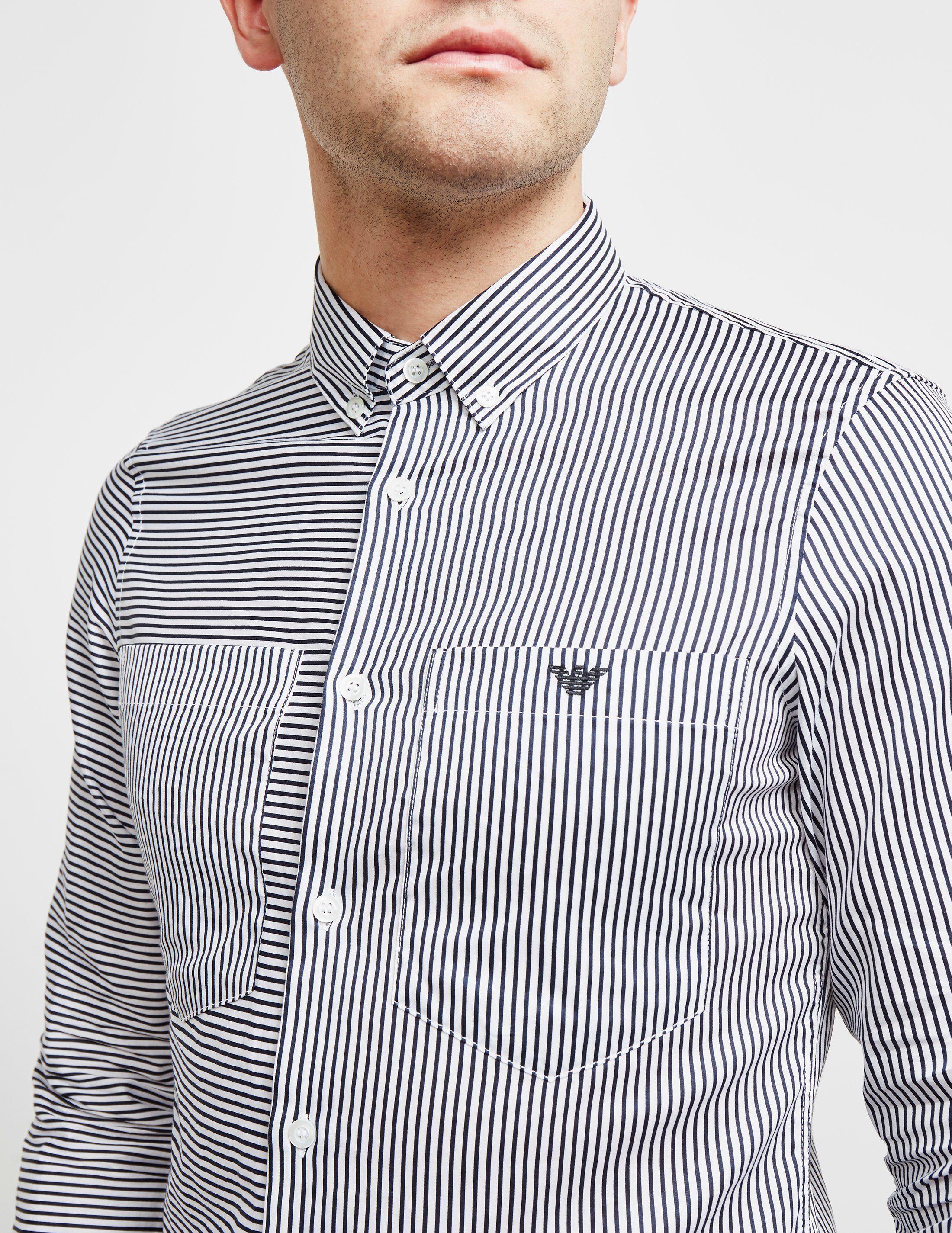 Emporio Armani Stripe Long Sleeve Shirt