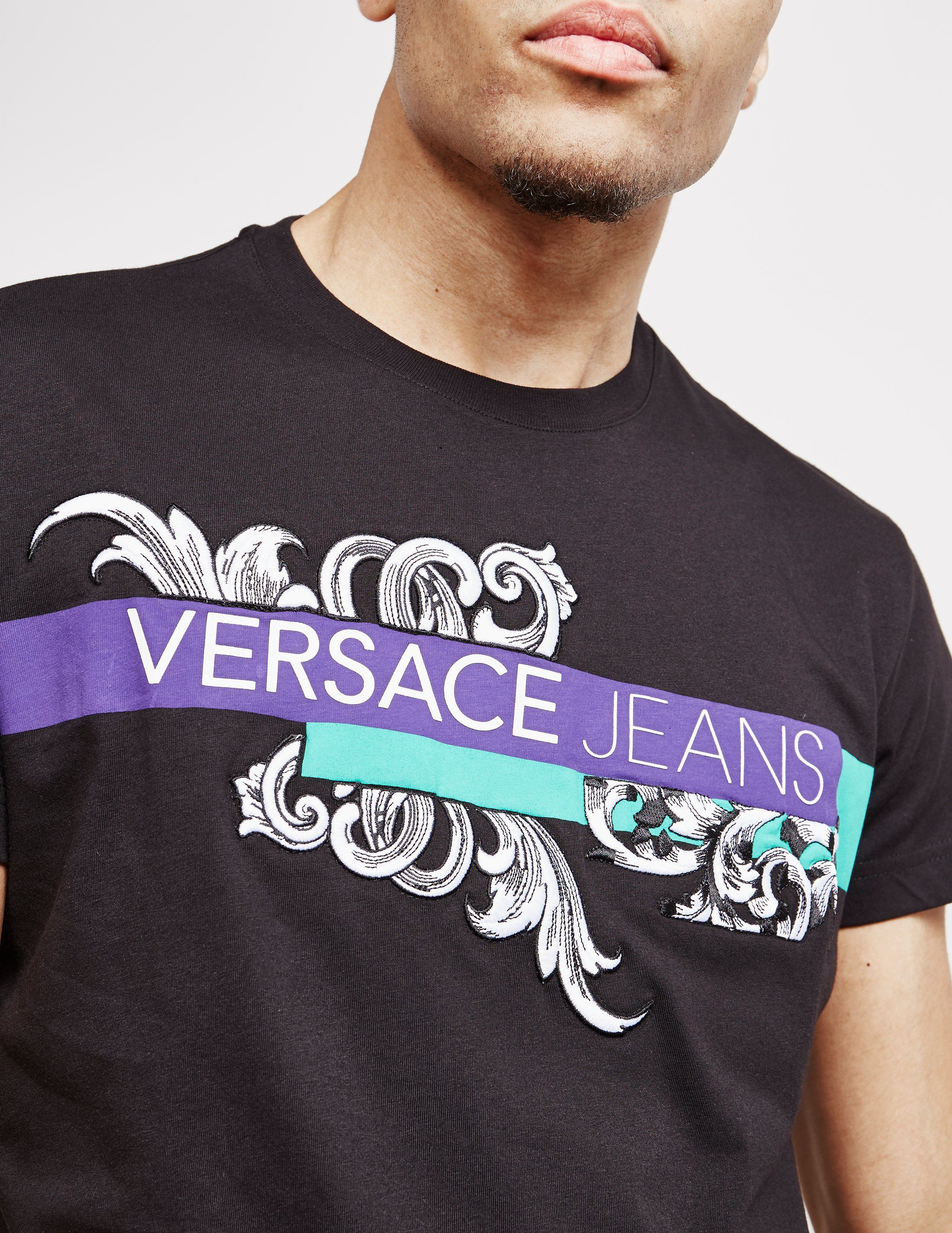 Versace Jeans Baroque Logo Short Sleeve T-Shirt