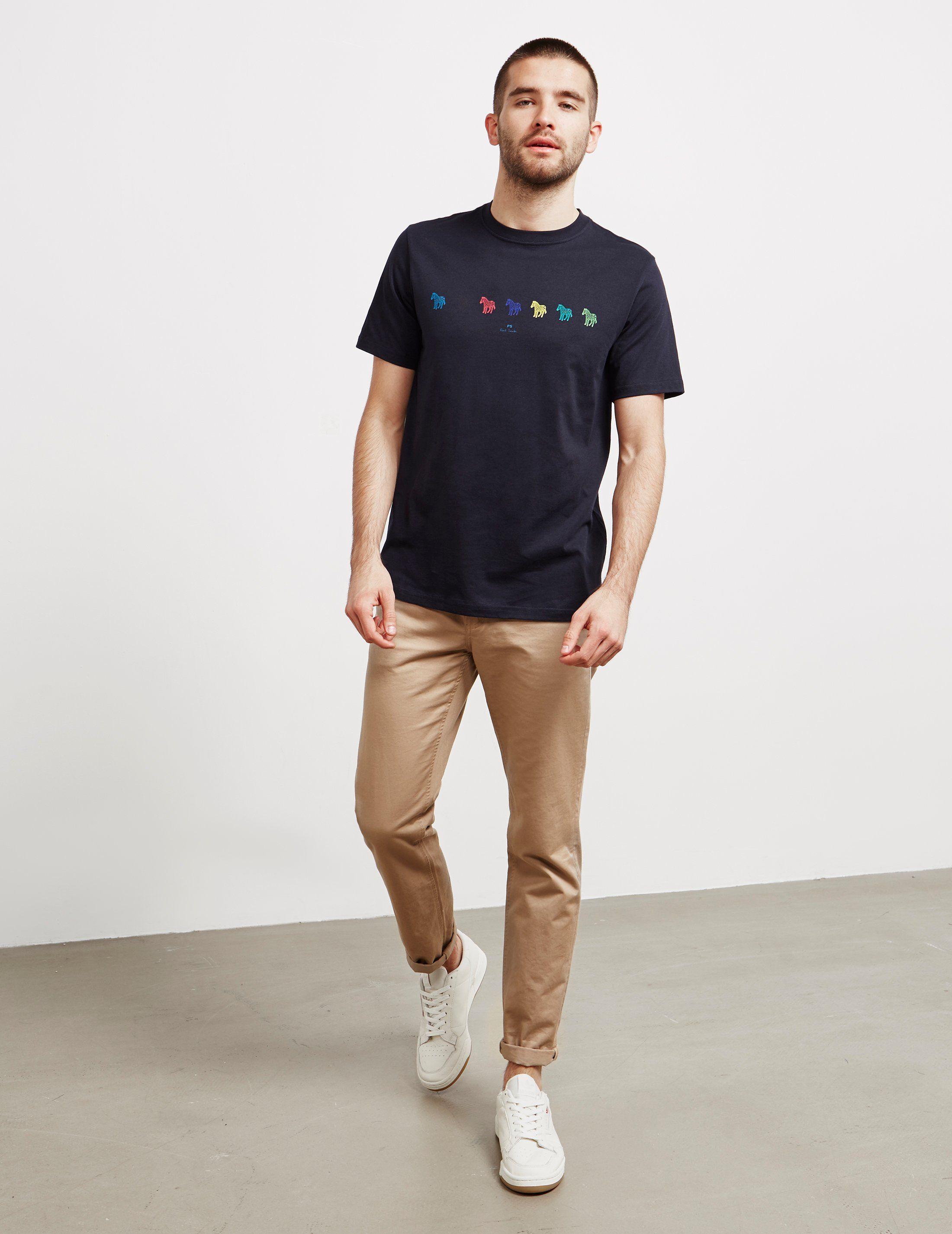 PS Paul Smith Seven Zebra Short Sleeve T-Shirt